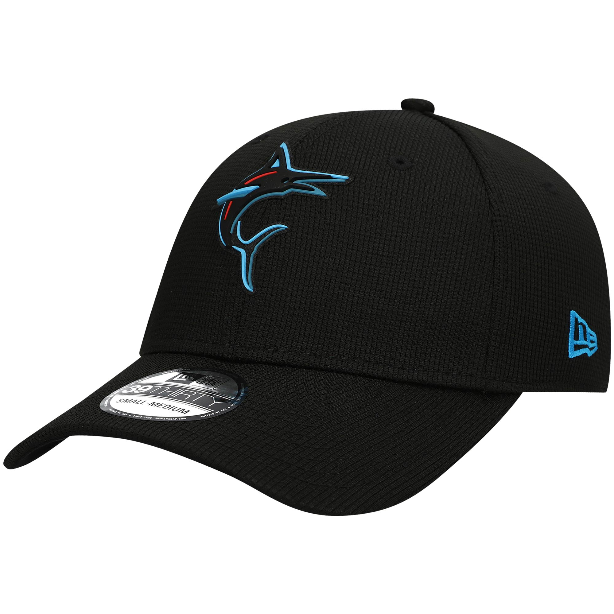 Miami Marlins New Era Clubhouse Alternate 39THIRTY Flex Hat - Black