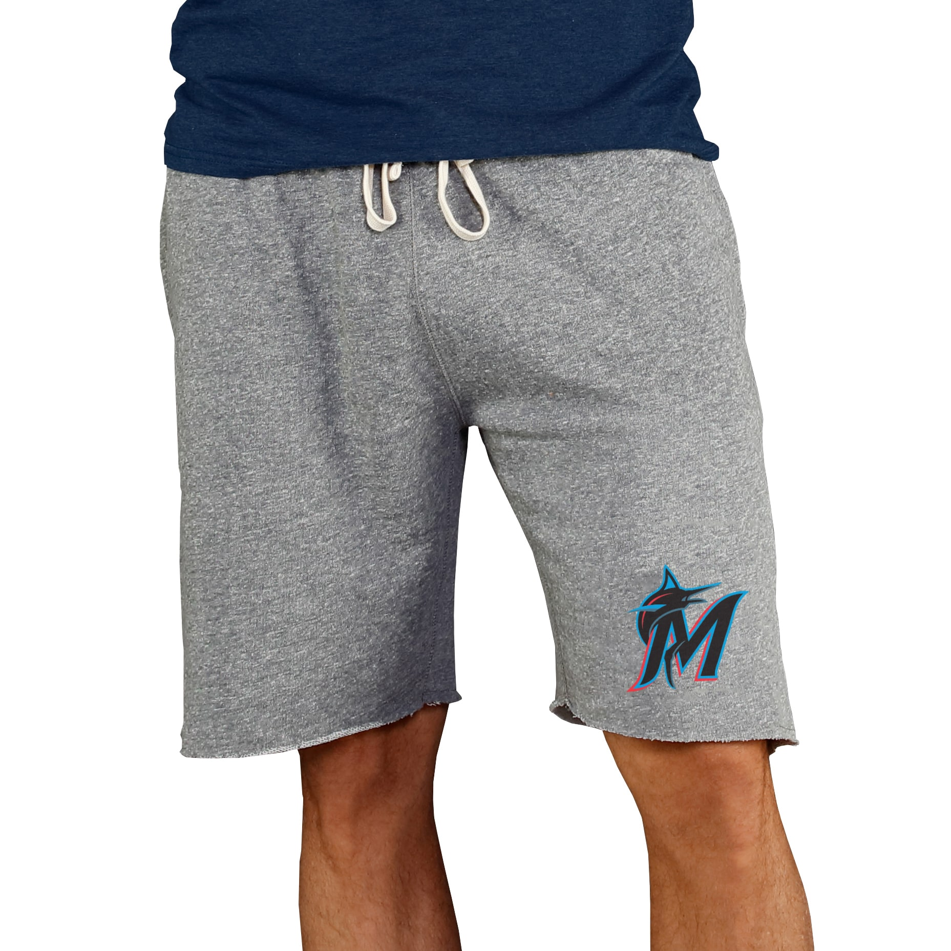 Miami Marlins Concepts Sport Mainstream Terry Shorts - Gray