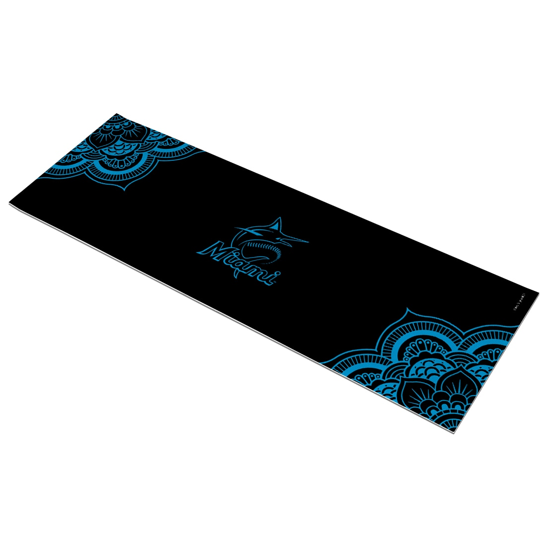 Miami Marlins Color Design Yoga Mat
