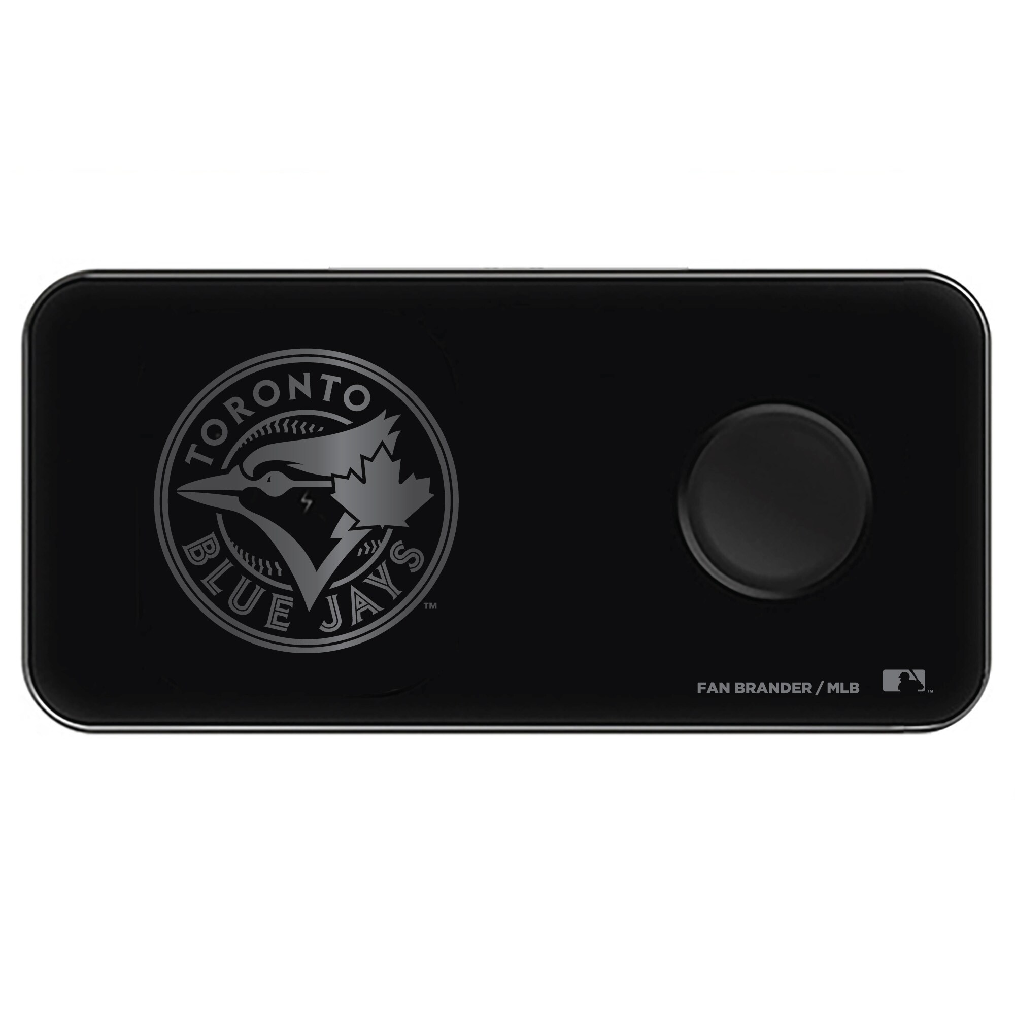 Toronto Blue Jays 3-in-1 Glass Wireless Charge Pad - Black