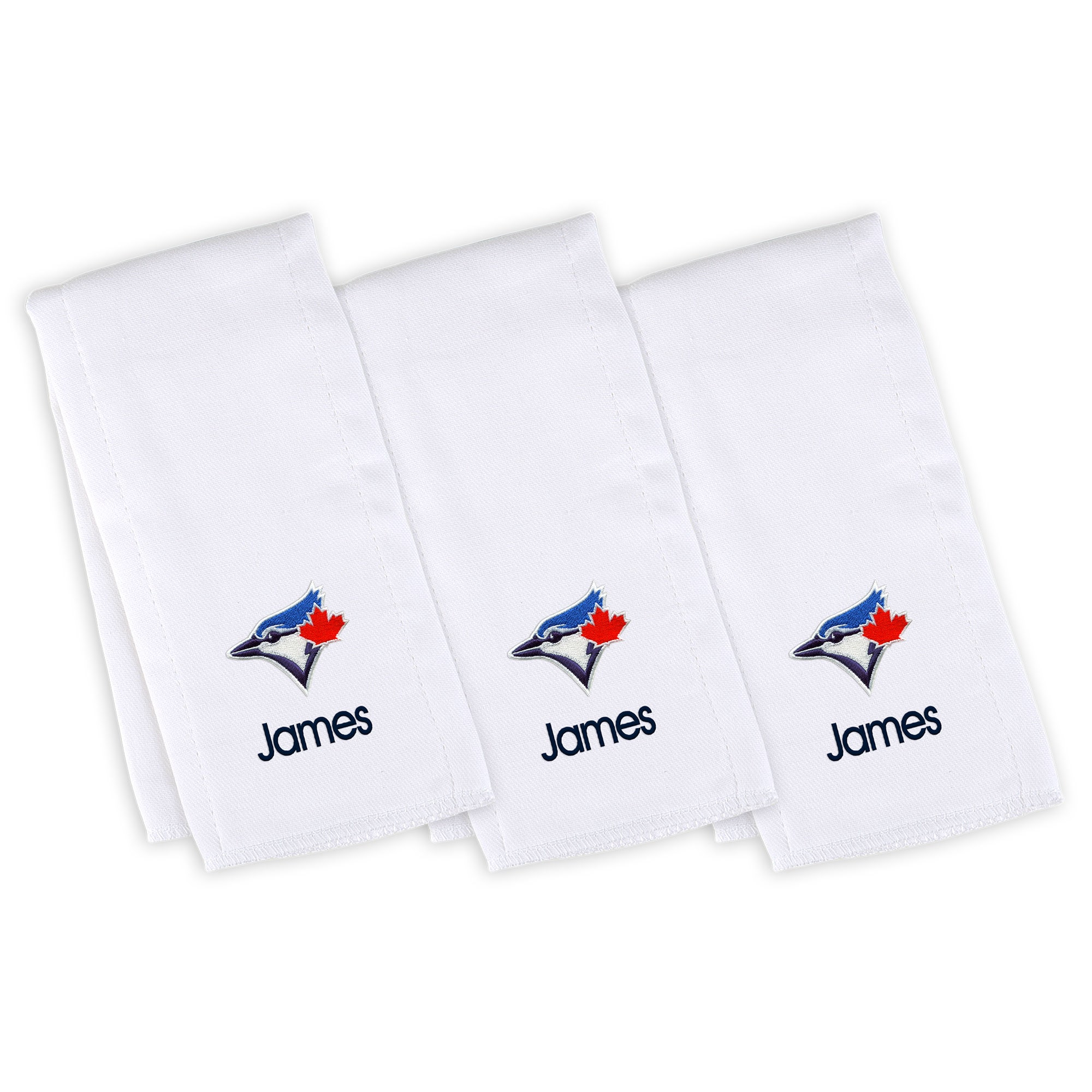 Toronto Blue Jays Infant Personalized Burp Cloth 3-Pack - White