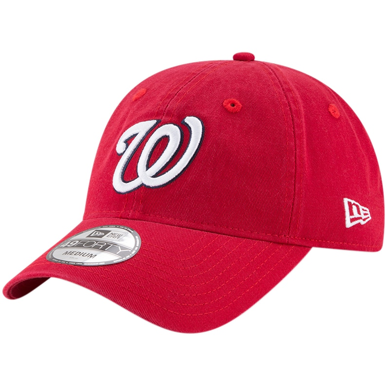 Washington Nationals New Era Core Fit Replica 49FORTY Fitted Hat - Red