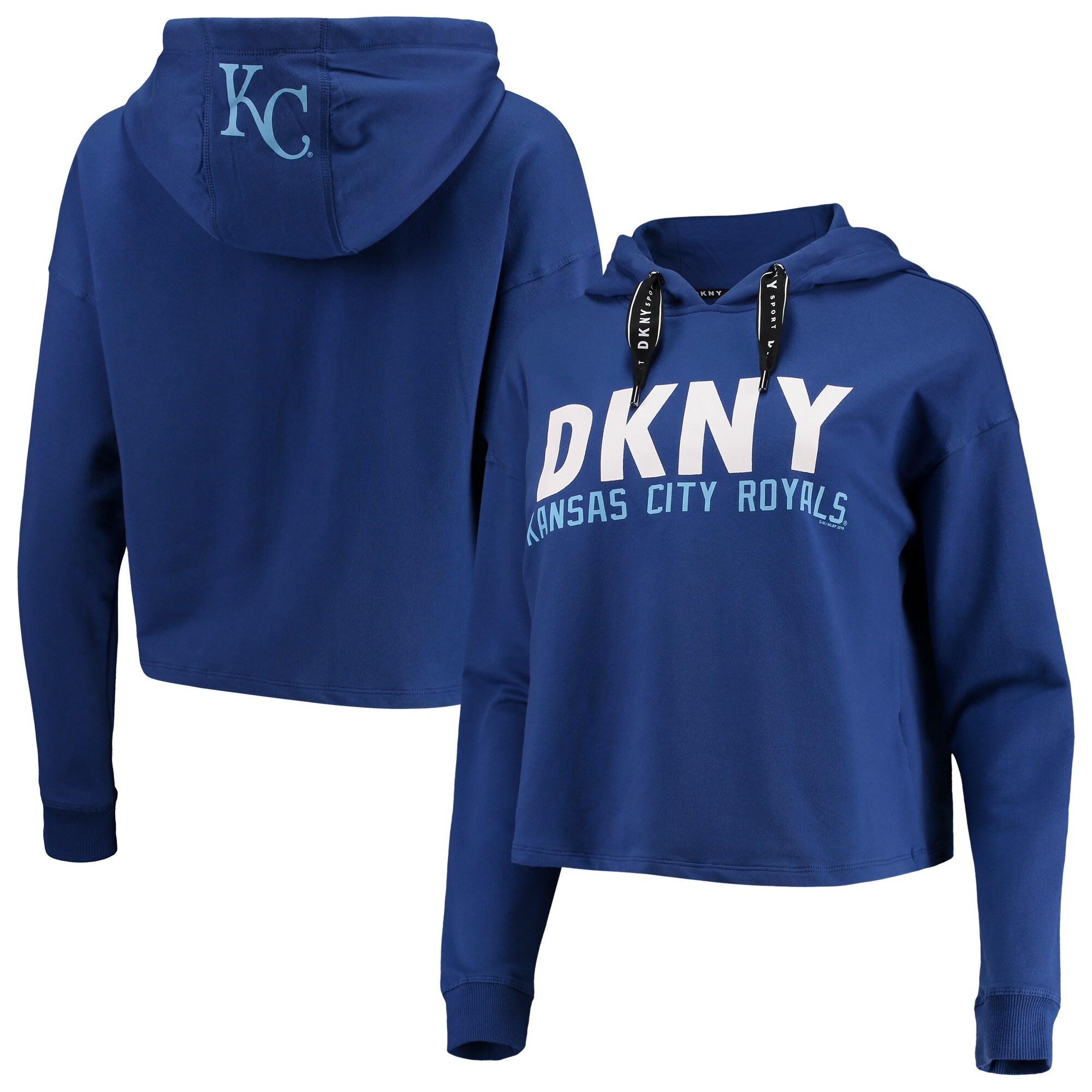 Kansas City Royals DKNY Sport Women's The Maddie Pullover Hoodie - Royal