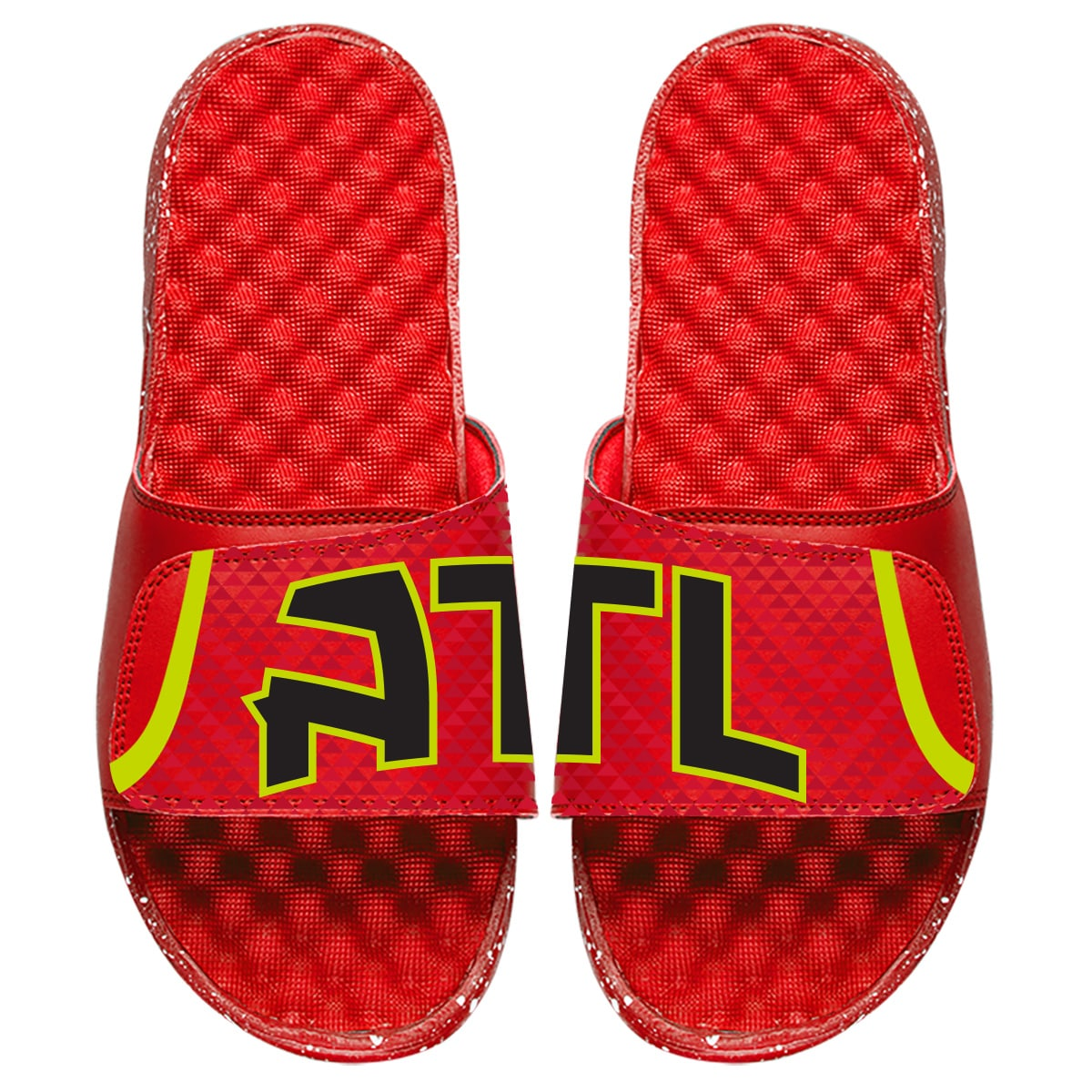 Atlanta Hawks ISlide Statement Jersey Split Slide Sandals - Red