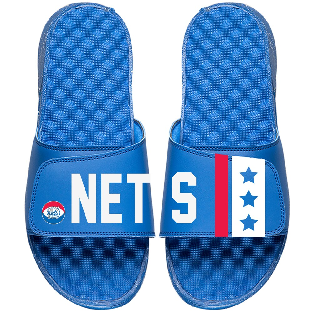Brooklyn Nets ISlide NBA Hardwood Classics Jersey Slide Sandals - Royal