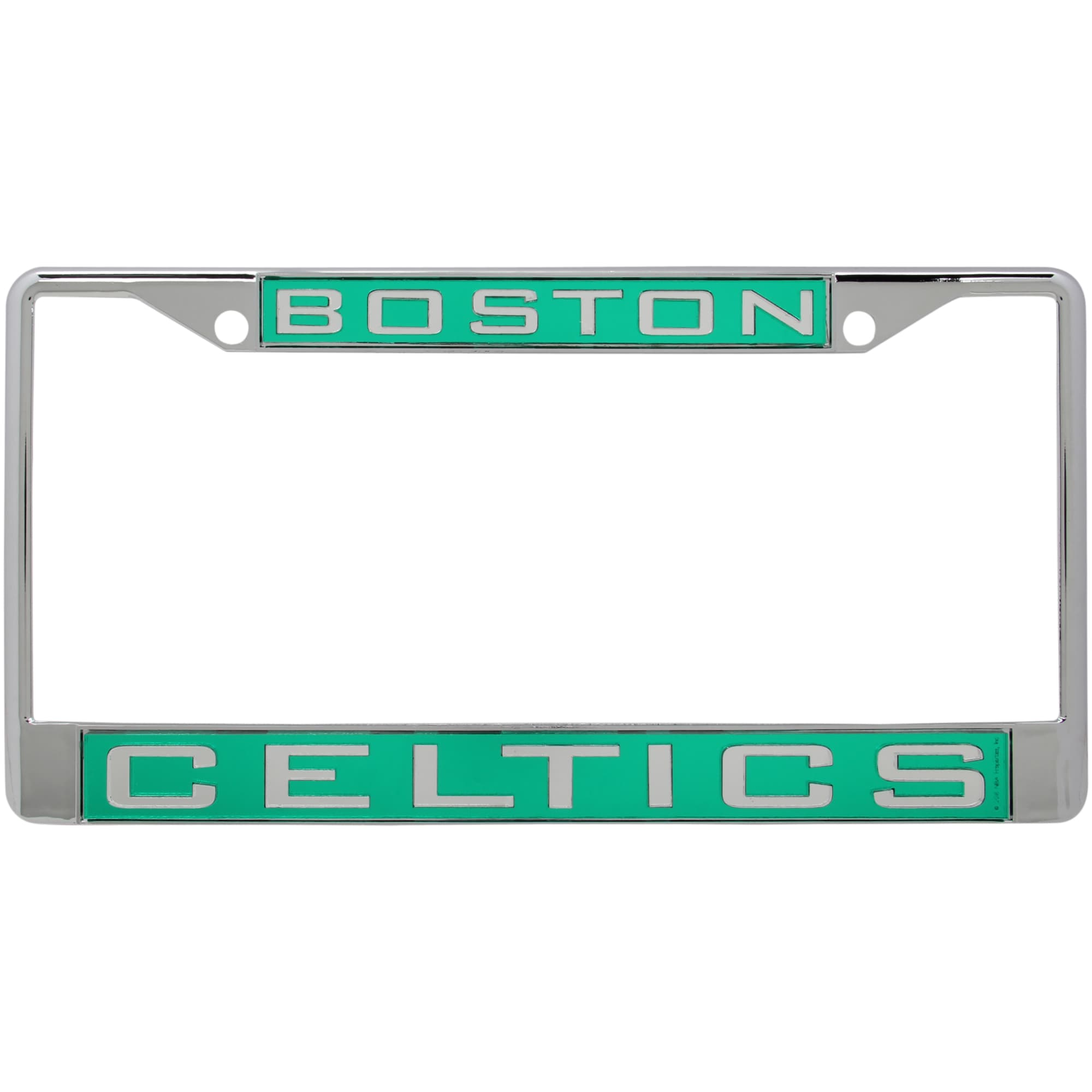 Boston Celtics WinCraft Laser Inlaid Metal License Plate Frame