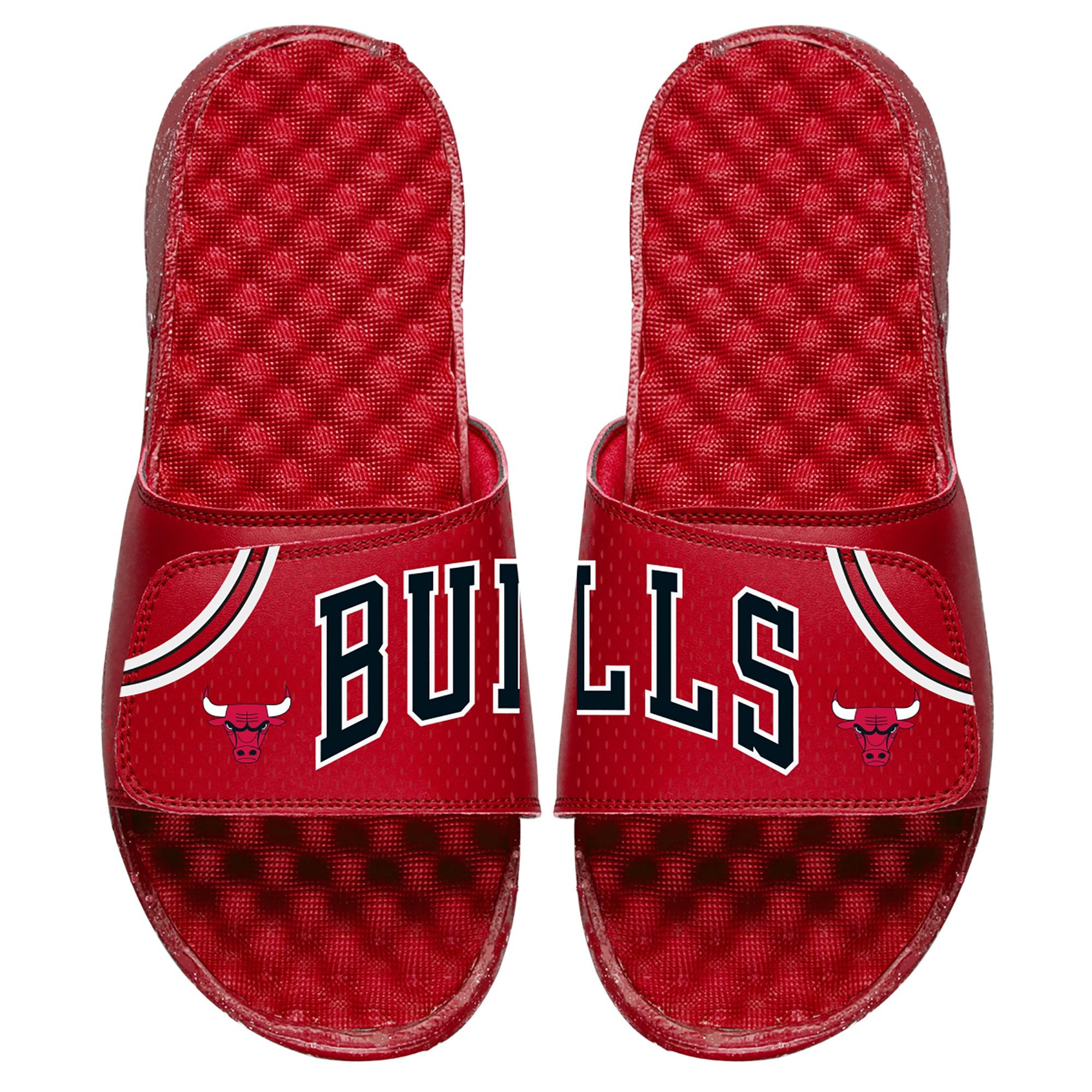 Chicago Bulls ISlide Away Jersey Split Slide Sandals - Red