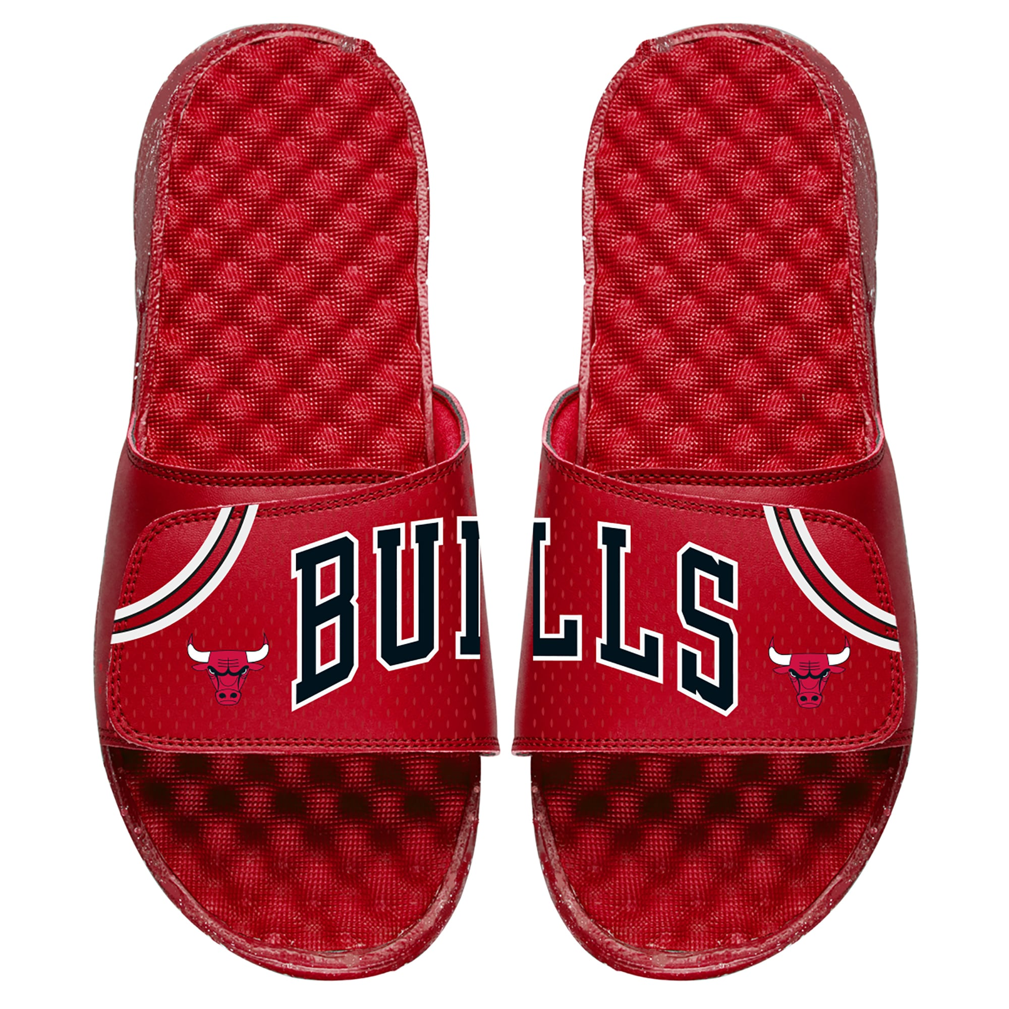 Chicago Bulls ISlide Youth Away Jersey Slide Sandals - Red