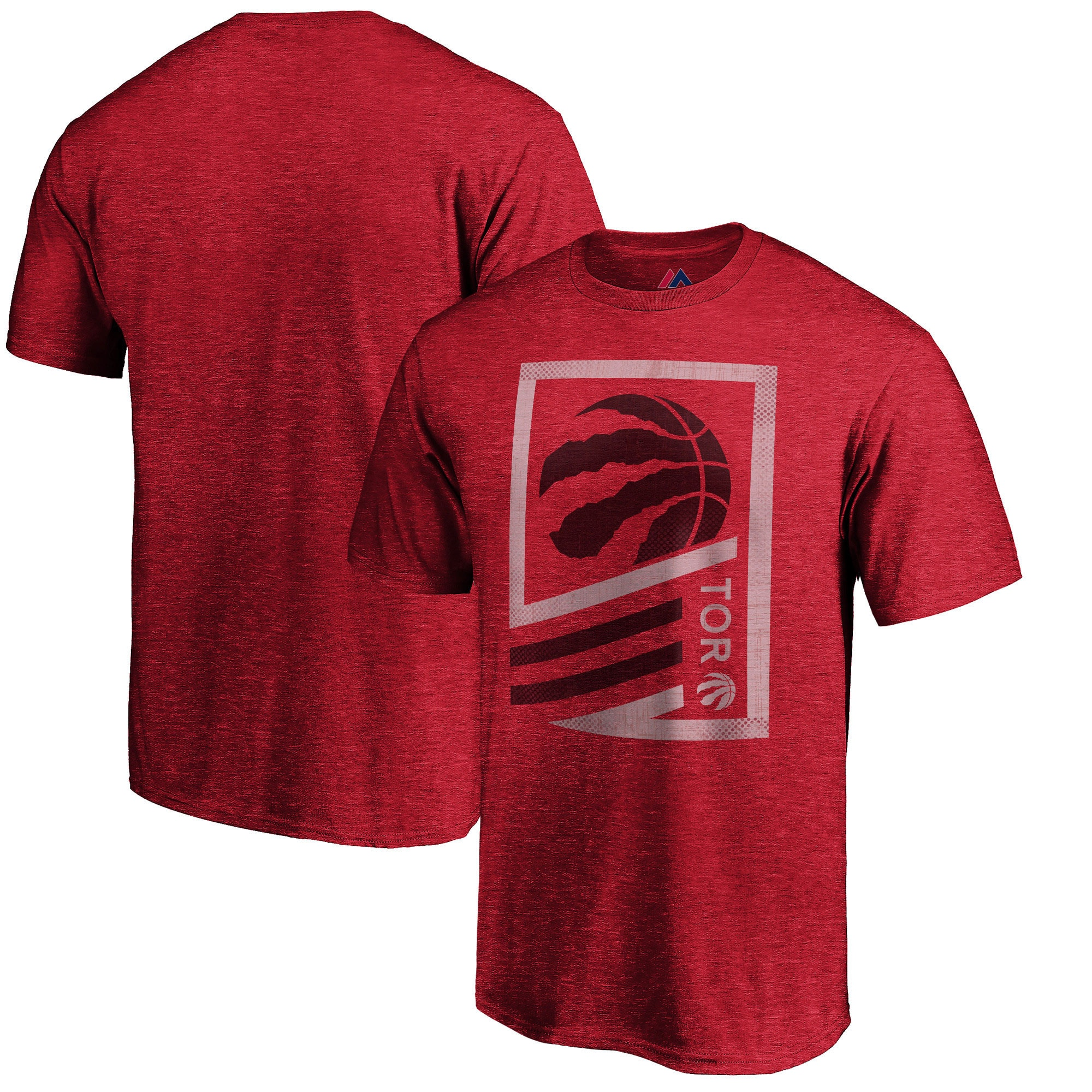 Toronto Raptors Majestic Flex Classic Tri-Blend T-Shirt - Red