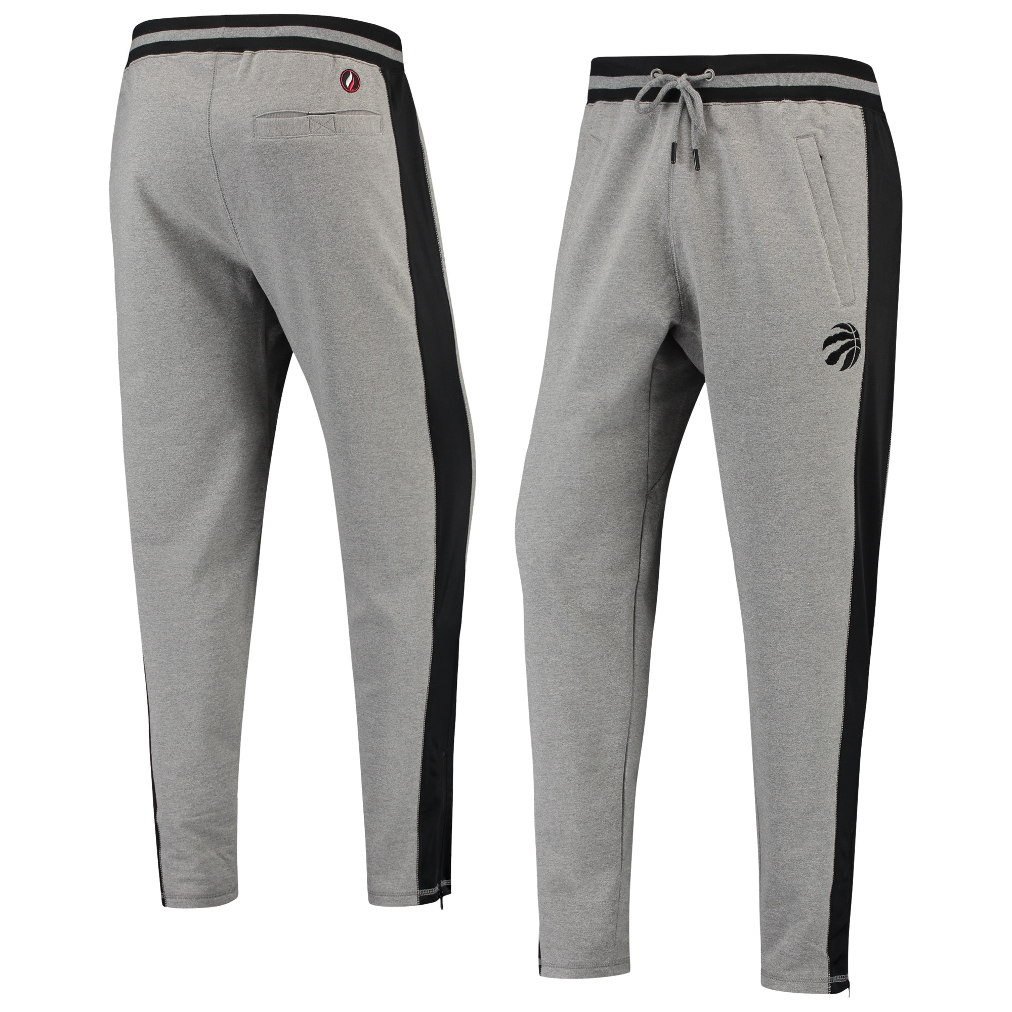 Toronto Raptors FISLL Core French Terry Jogger Pants - Gray