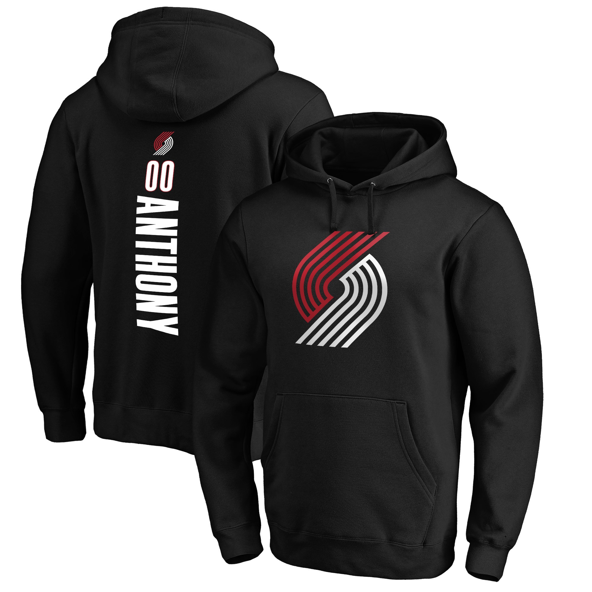 Carmelo Anthony Portland Trail Blazers Fanatics Branded Playmaker Name & Number Pullover Hoodie - Black