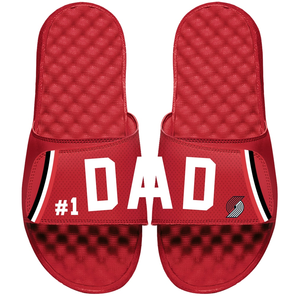 Portland Trail Blazers ISlide Dad Slide Sandals - Red