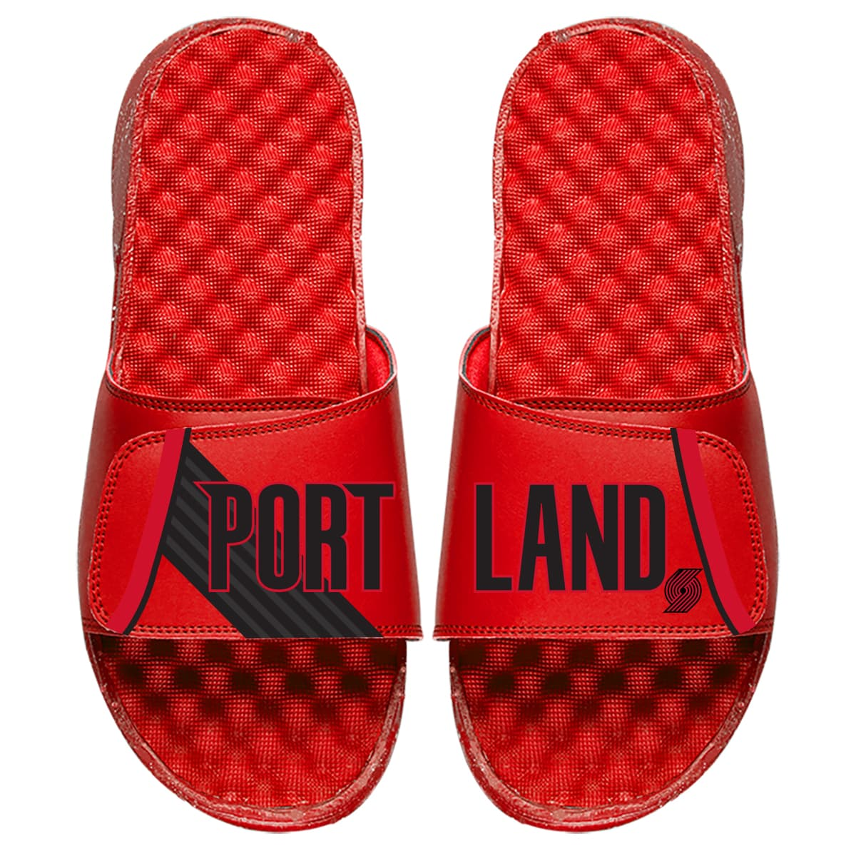 Portland Trail Blazers ISlide Statement Jersey Split Slide Sandals - Red