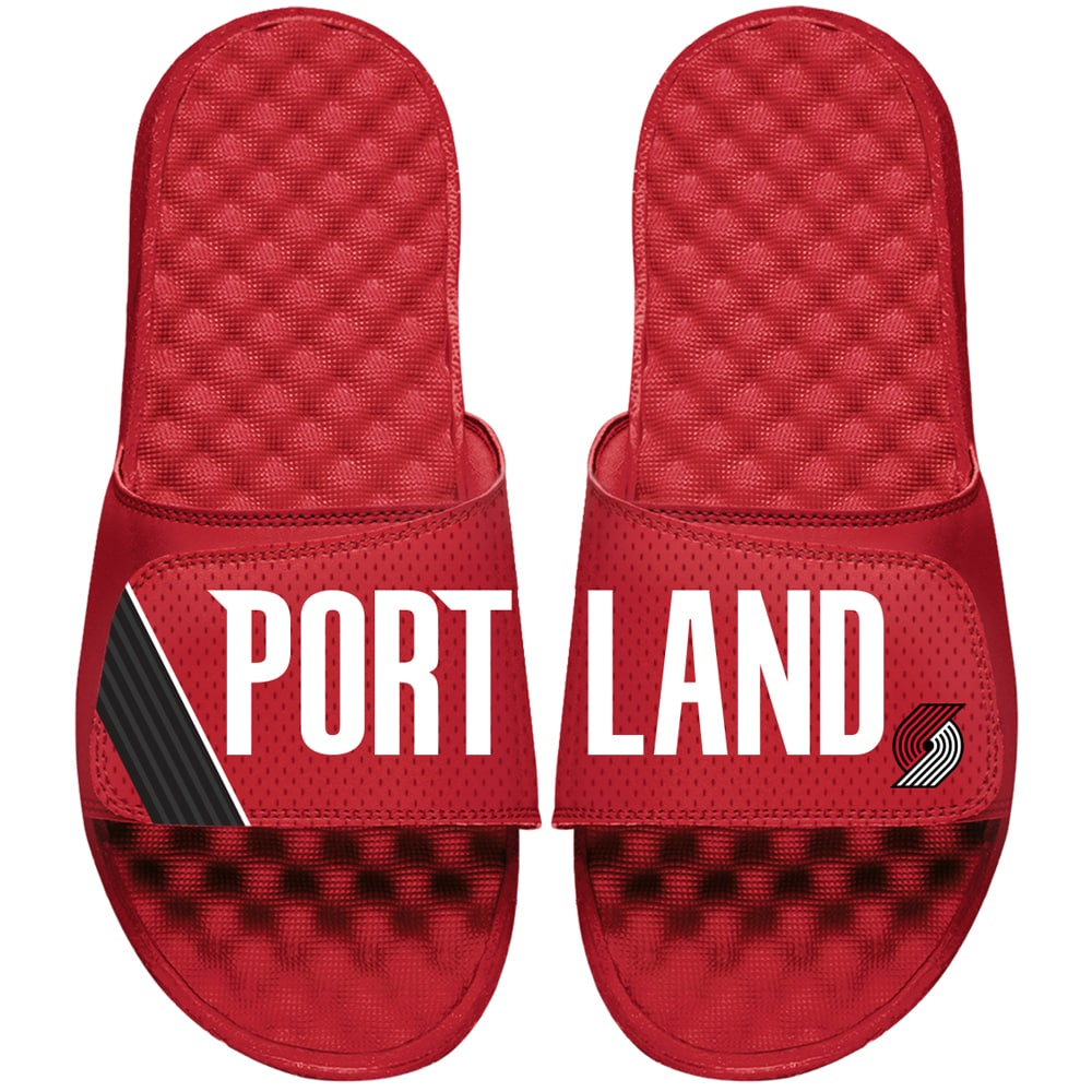 Portland Trail Blazers ISlide Statement Jersey Slide Sandals - Red