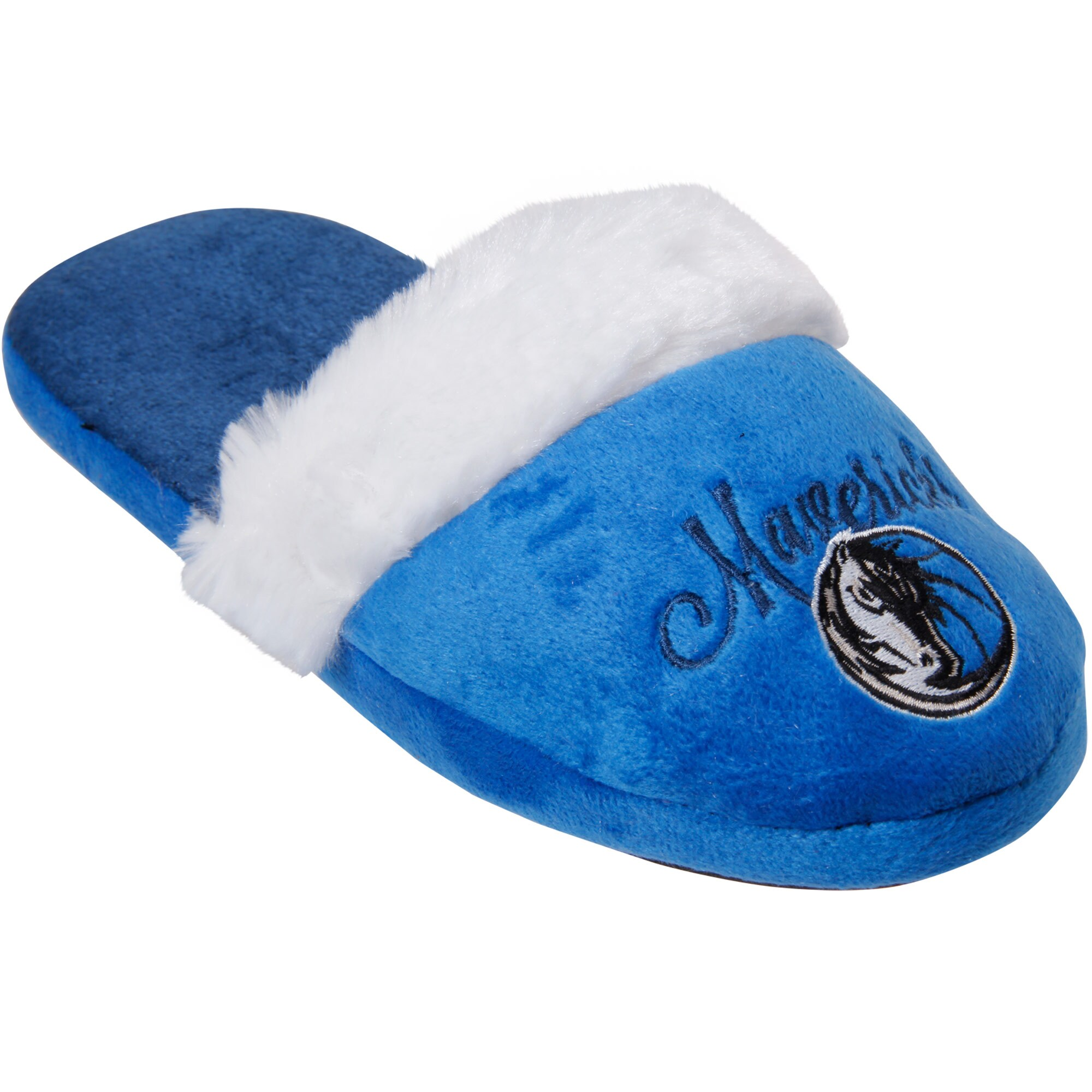 Dallas Mavericks Women's Colorblock Faux Fur Slide Slippers