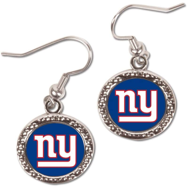 New York Giants WinCraft Women's Round Dangle Earrings