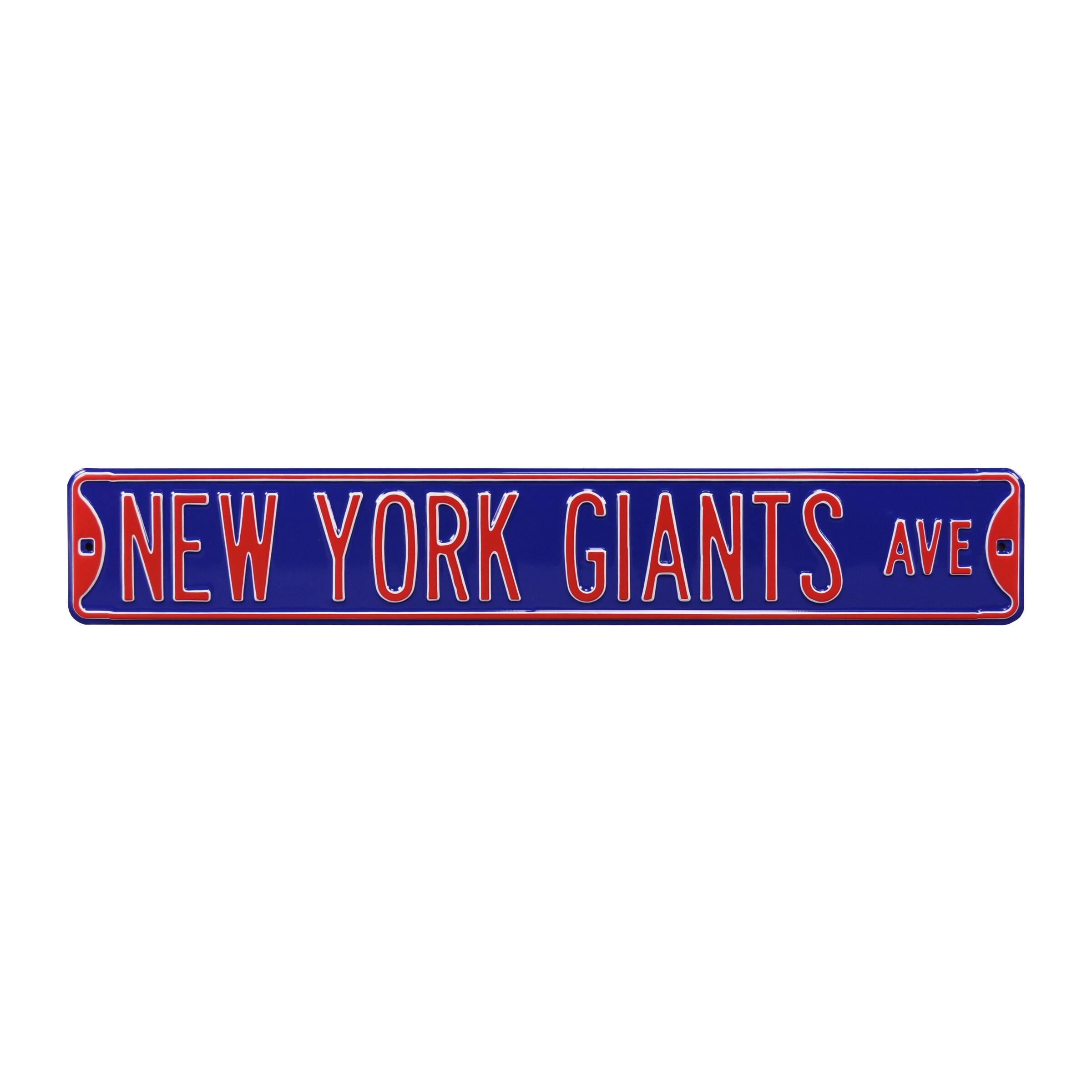 "New York Giants Ave 6"" x 36"" Steel Street Sign - Royal"