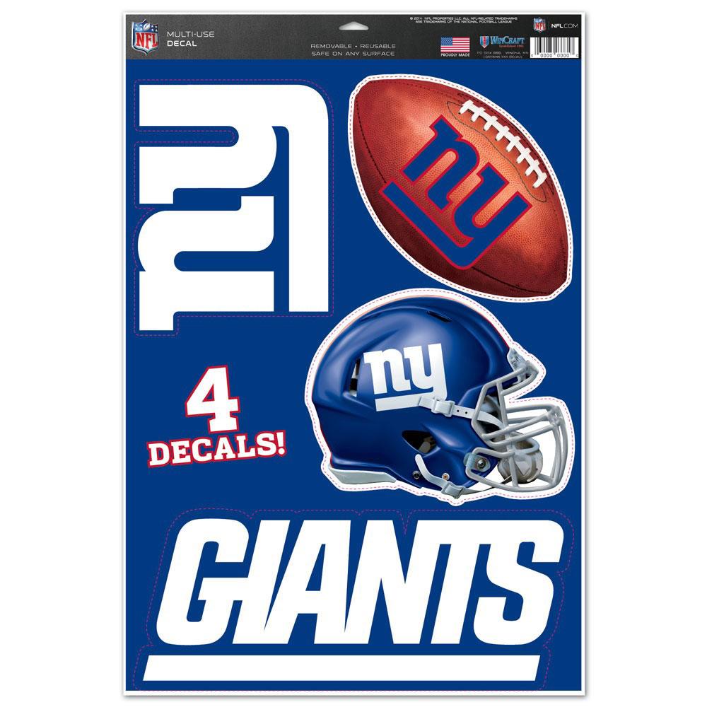 "New York Giants WinCraft #1 Fan 11"" x 17"" Multi-Use Decal Sheet"