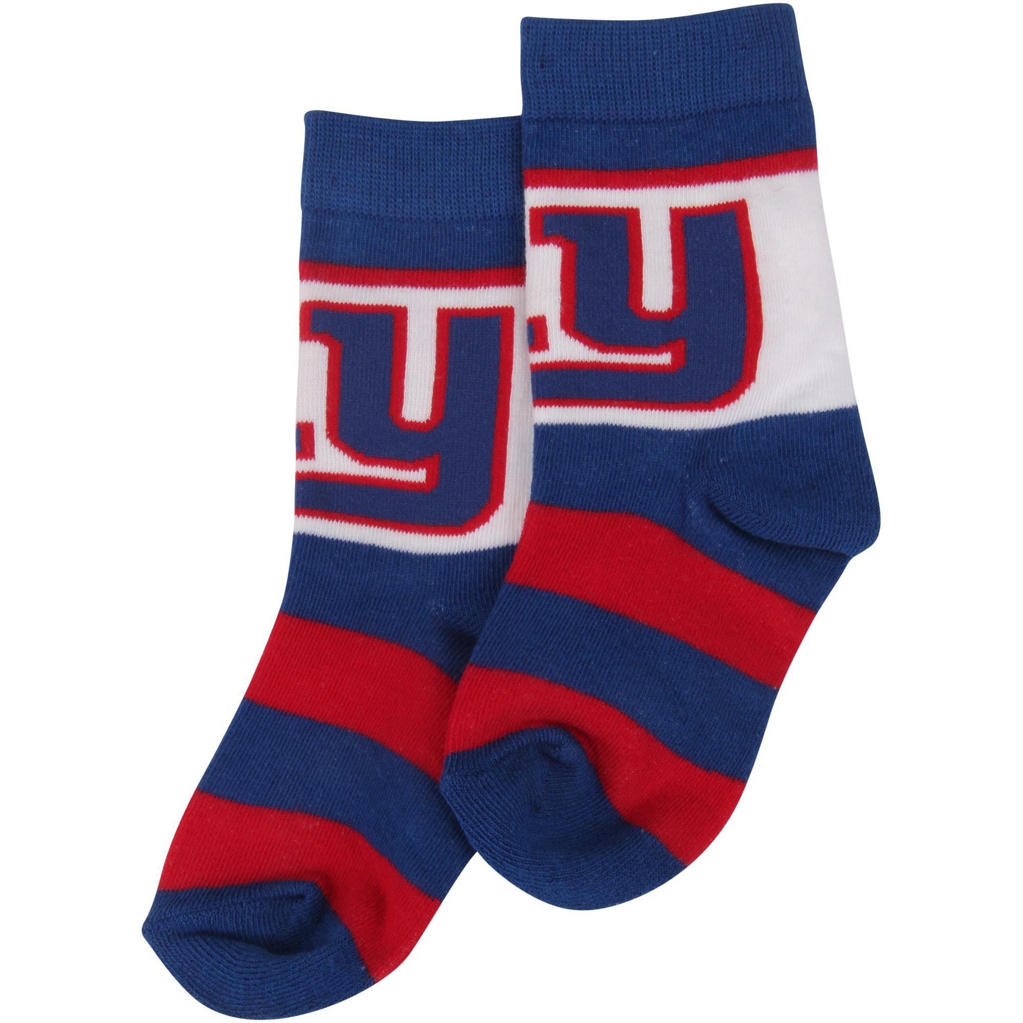 New York Giants For Bare Feet Toddler Rugby Block Socks