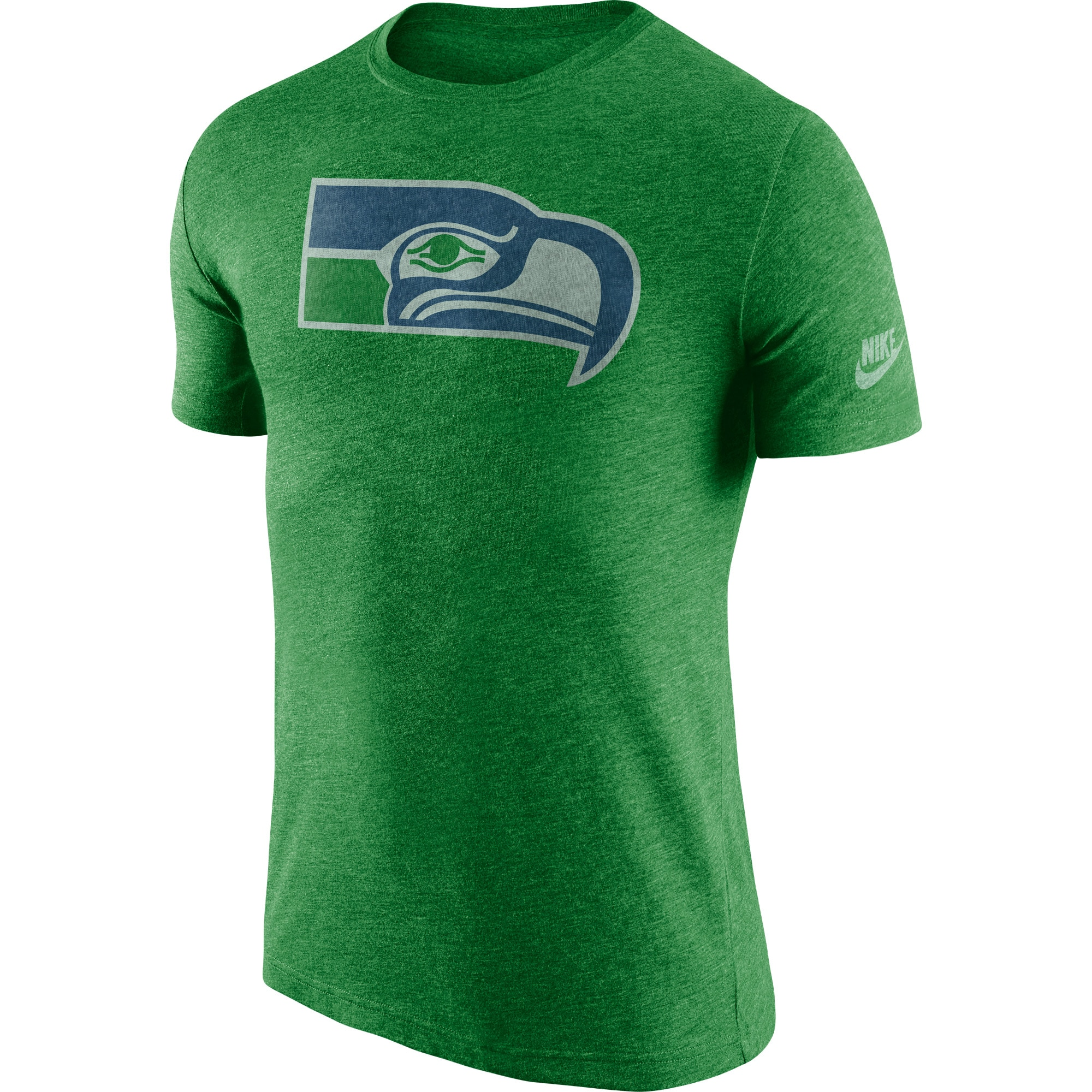 Seattle Seahawks Nike Historic Logo Tri-Blend T-Shirt - Heathered Neon Green