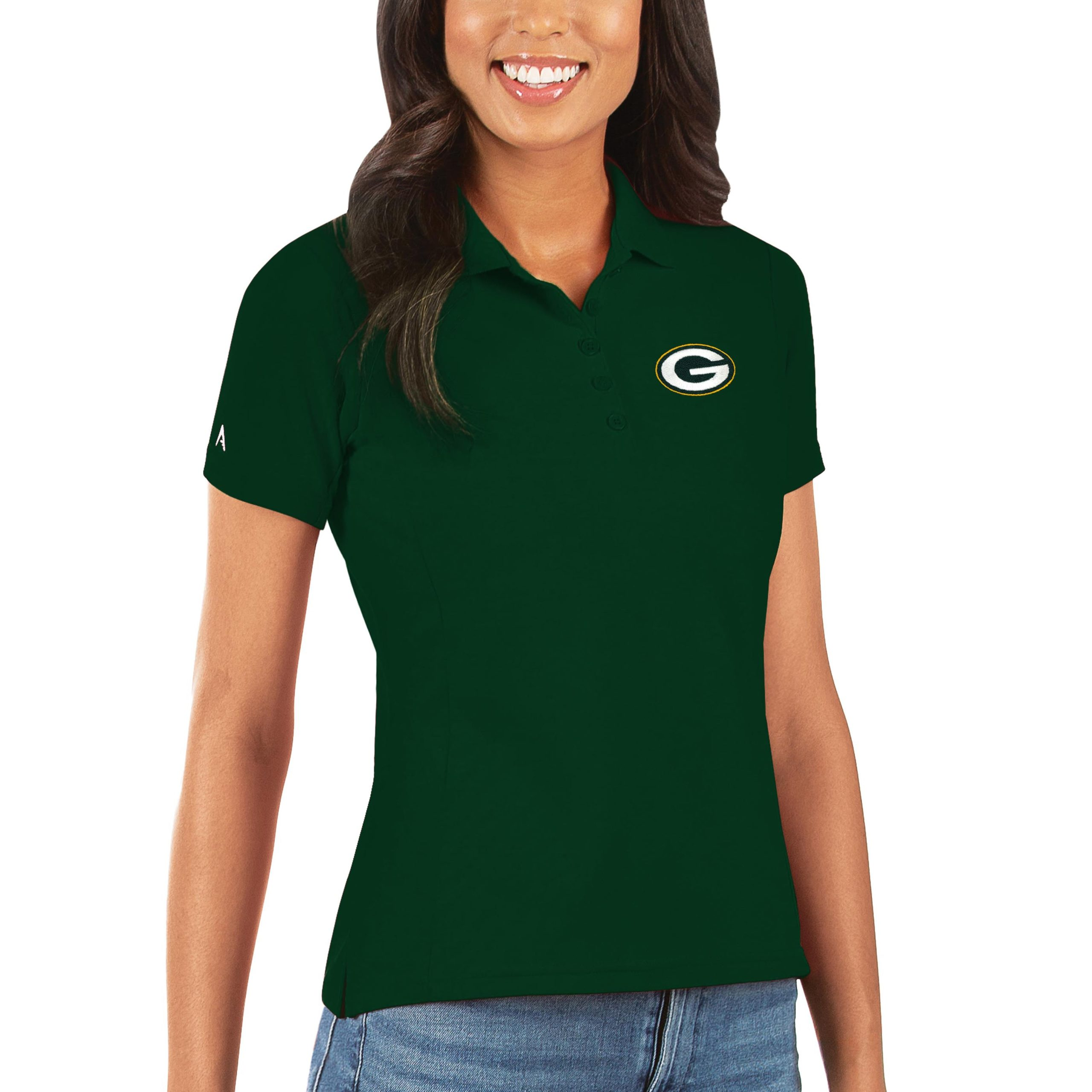 Green Bay Packers Antigua Women's Legacy Pique Polo - Green