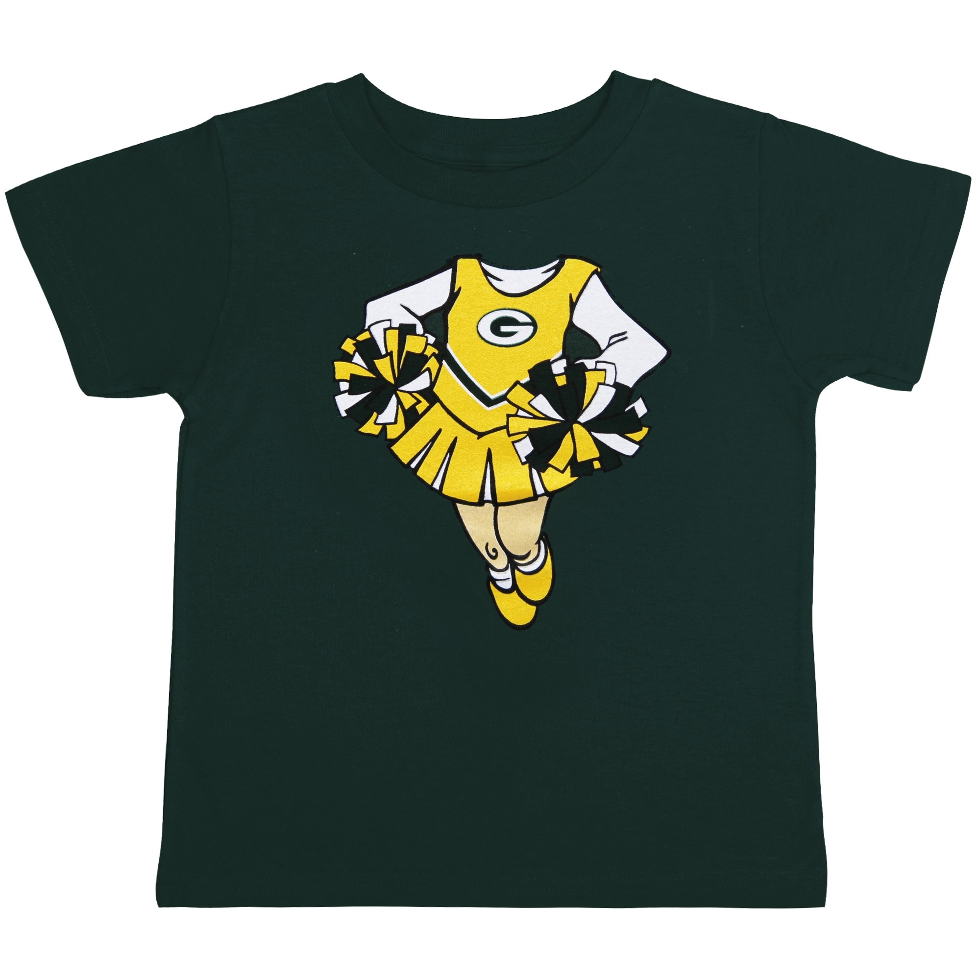 Green Bay Packers Girl's Infant Cheerleader Dreams T-Shirt - Green