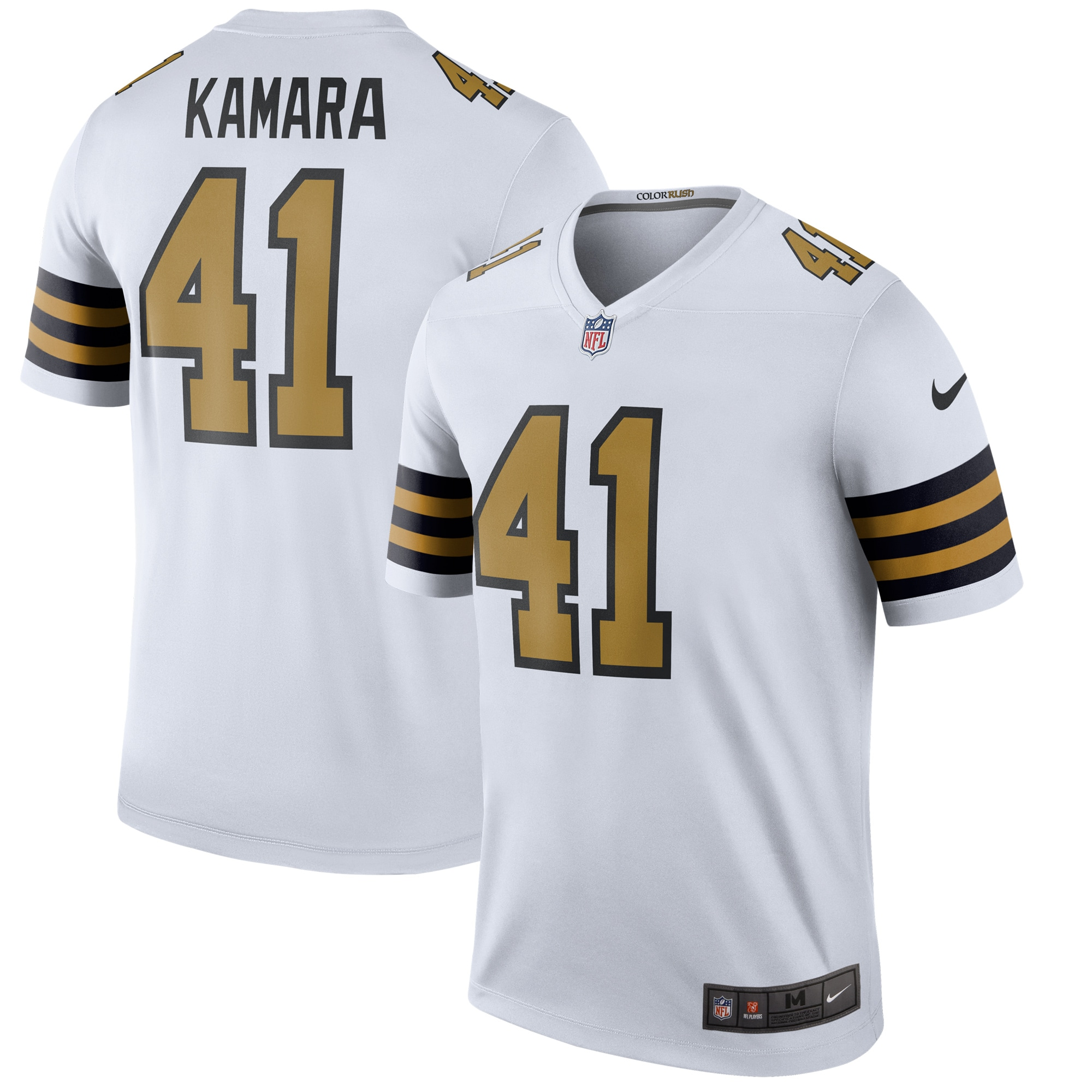 Alvin Kamara New Orleans Saints Nike Color Rush Legend Player Jersey - White