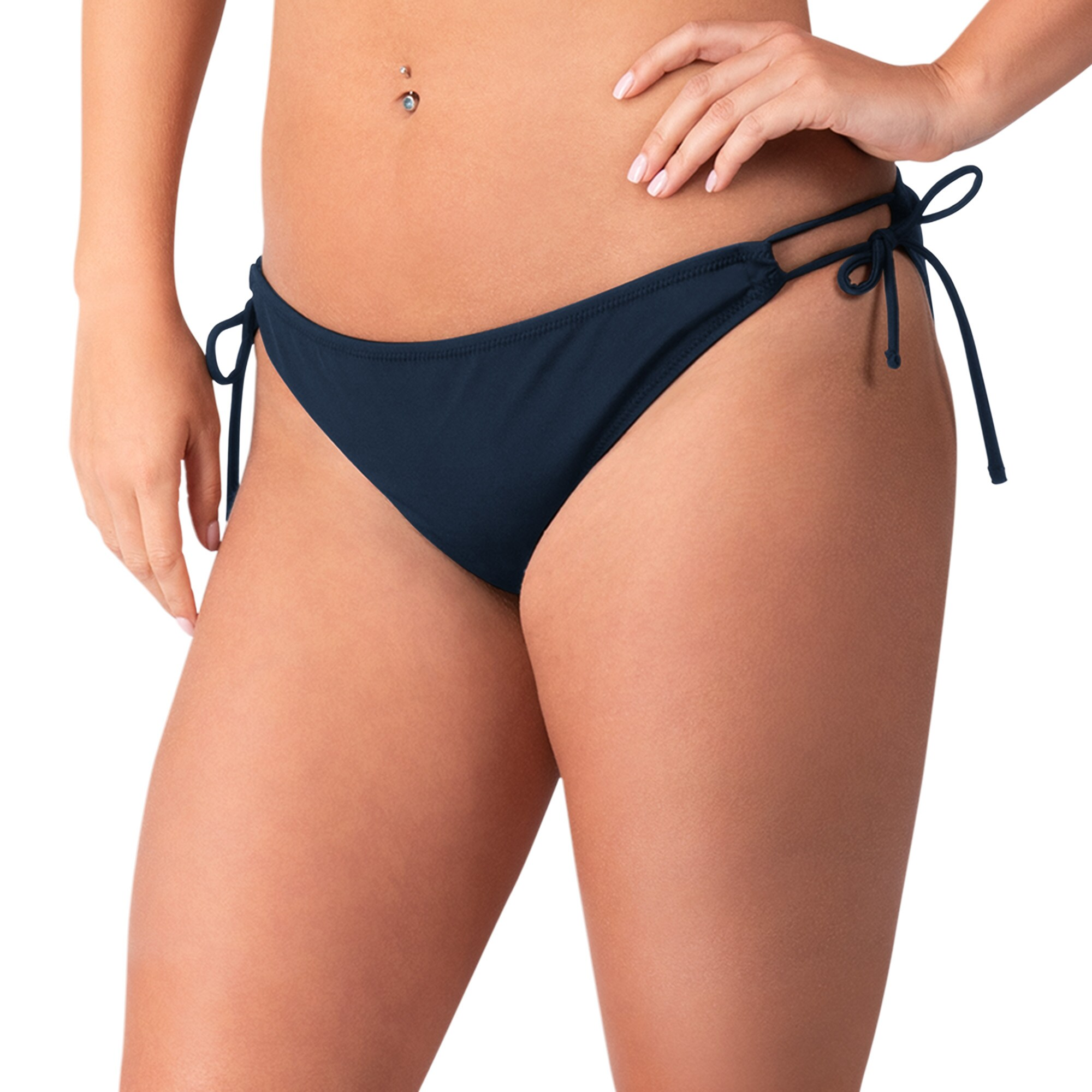 Denver Broncos G-III 4Her by Carl Banks Women's Without Limits Bikini Bottom - Navy