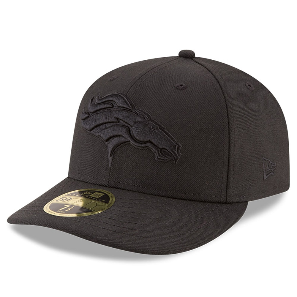 Denver Broncos New Era Black On Black Low Profile 59FIFTY Fitted Hat