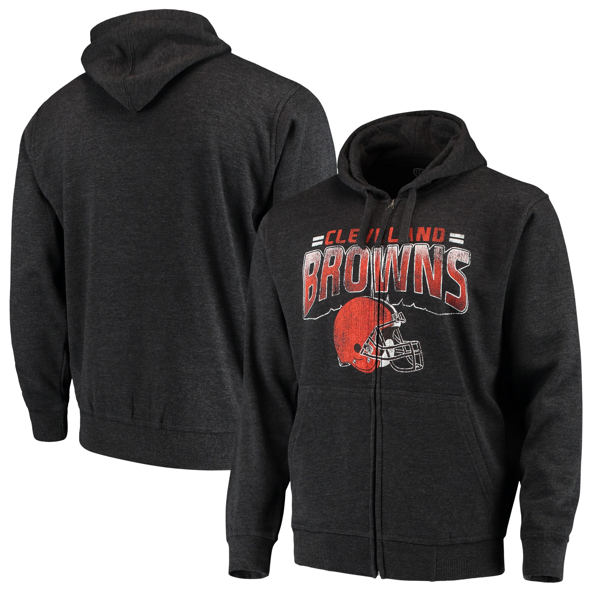 Cleveland Browns G-III Sports by Carl Banks Perfect Season Full-Zip Hoodie - Charcoal