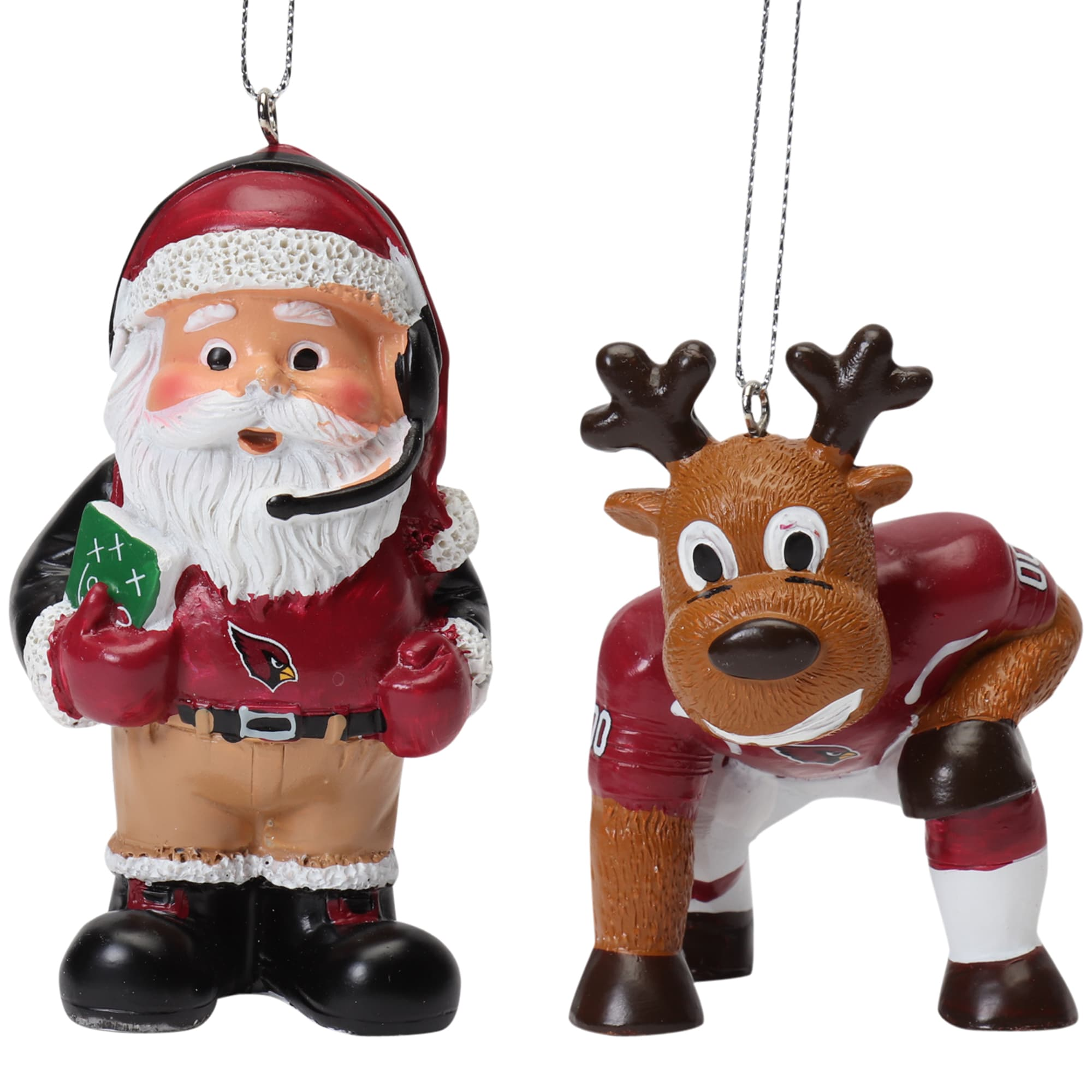 Arizona Cardinals Reindeer Games & Santa 2-Pack Ornament Set