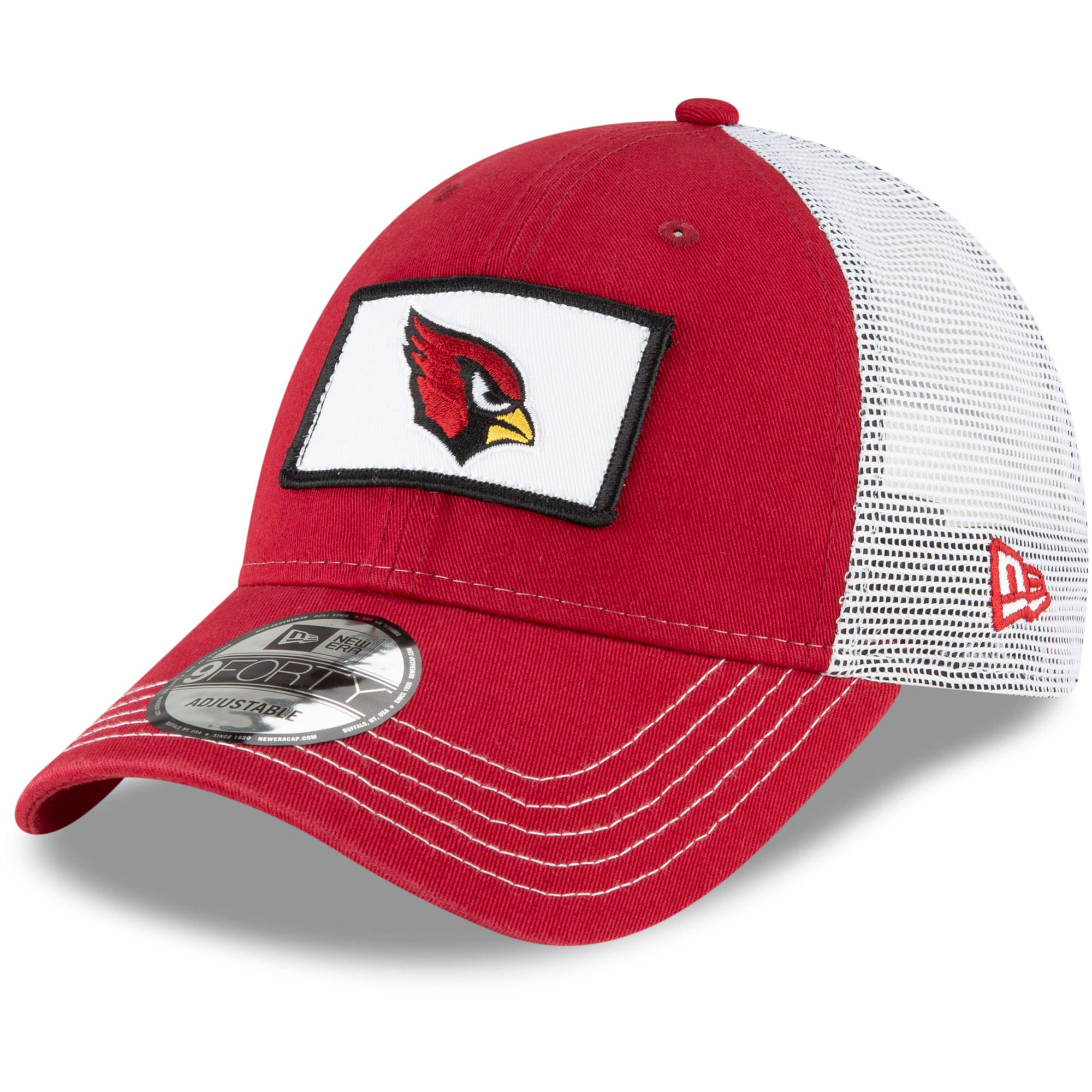 Arizona Cardinals New Era Jammer Trucker 9FORTY Snapback Hat - Cardinal