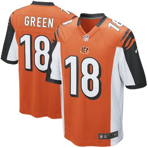 AJ Green Cincinnati Bengals Nike Alternate Game Jersey - Orange