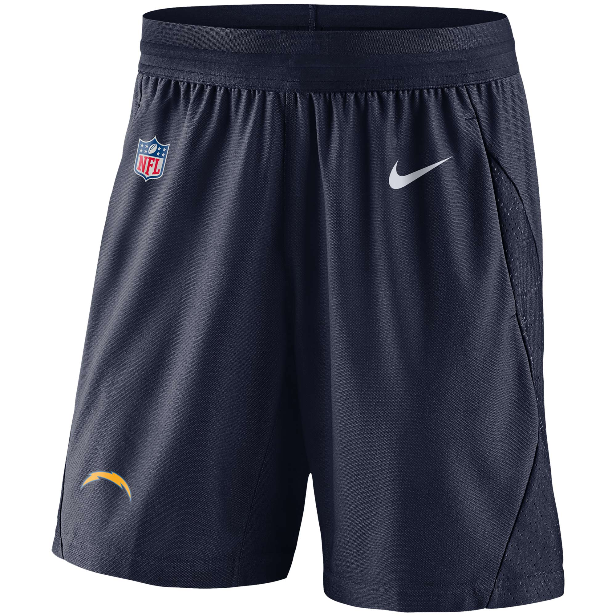 Los Angeles Chargers Nike Sideline Fly Performance Knit Shorts - Navy