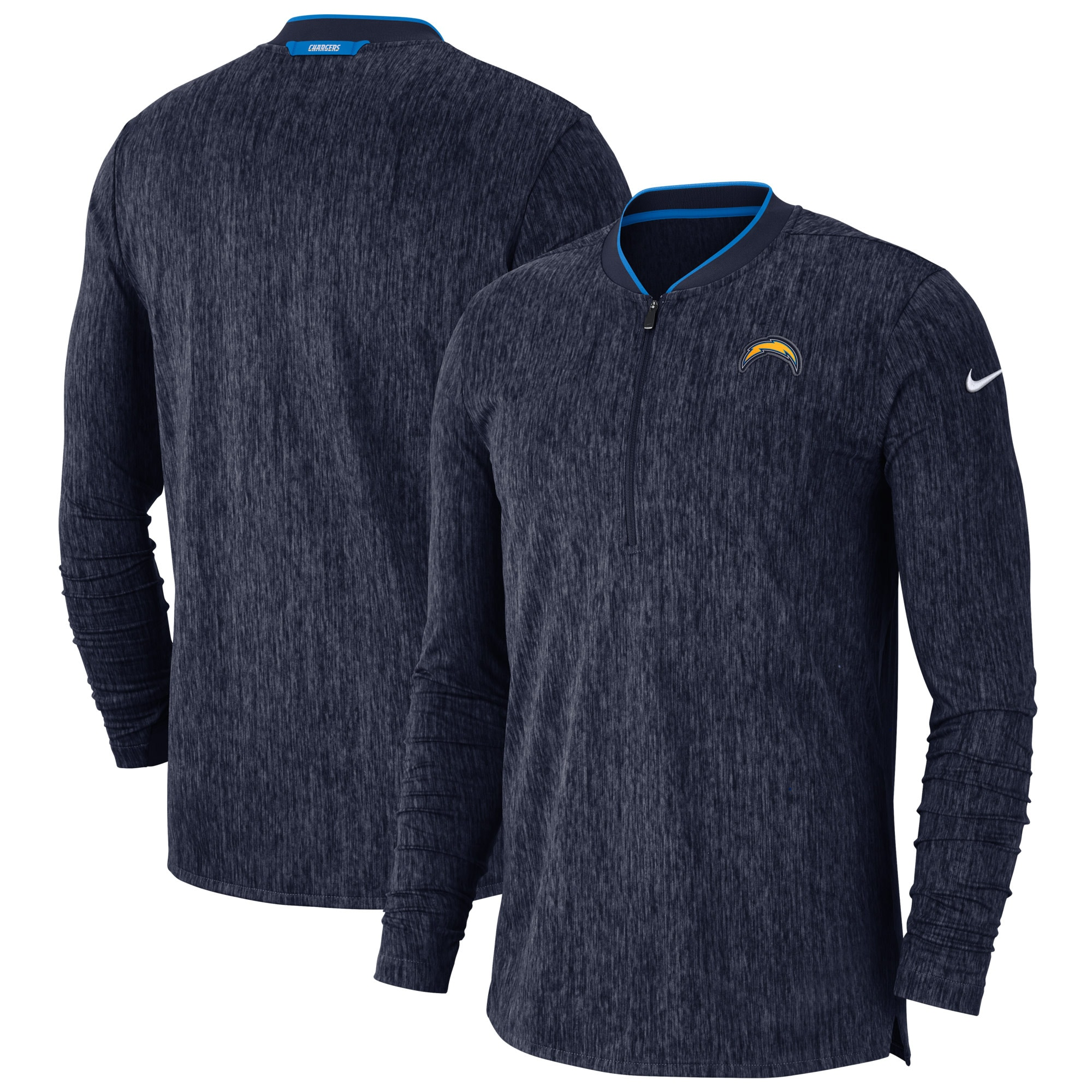 Los Angeles Chargers Nike Sideline Coaches Half-Zip Pullover Jacket - Navy