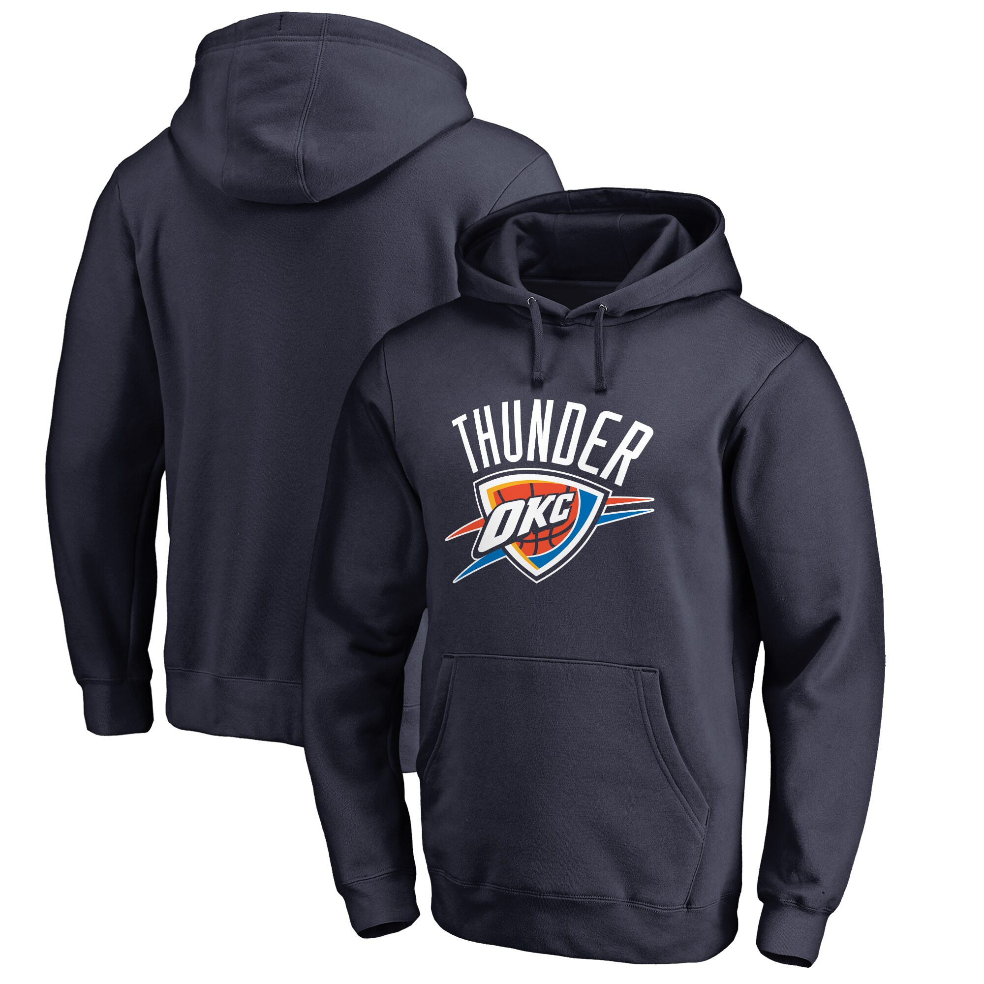 Oklahoma City Thunder Fanatics Branded Big & Tall Team Primary Logo Pullover Hoodie - Navy