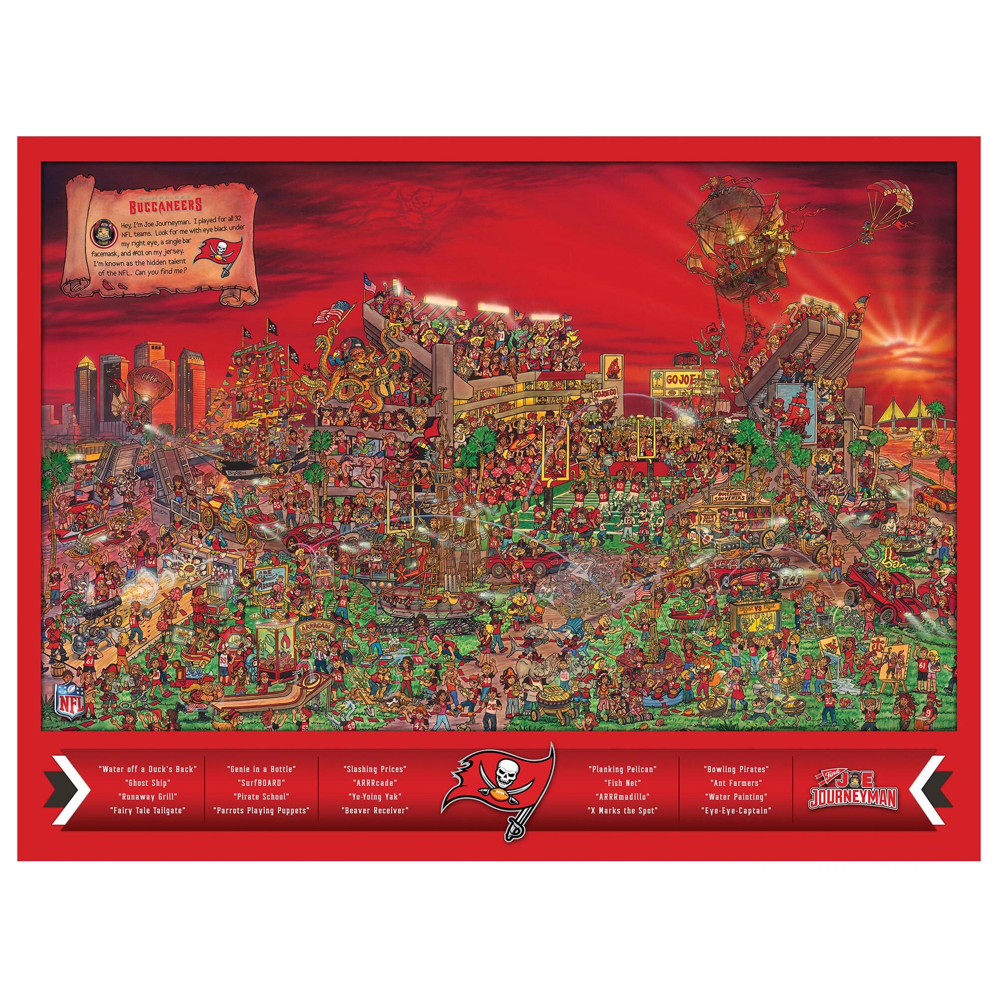 Tampa Bay Buccaneers 500-Piece Joe Journeyman Puzzle