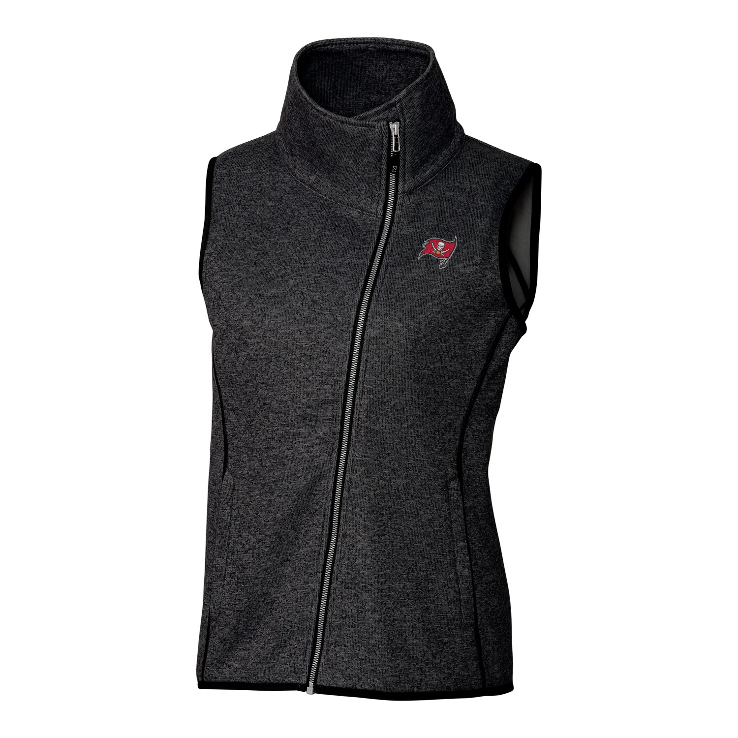 Tampa Bay Buccaneers Cutter & Buck Women's Mainsail Full-Zip Vest - Black