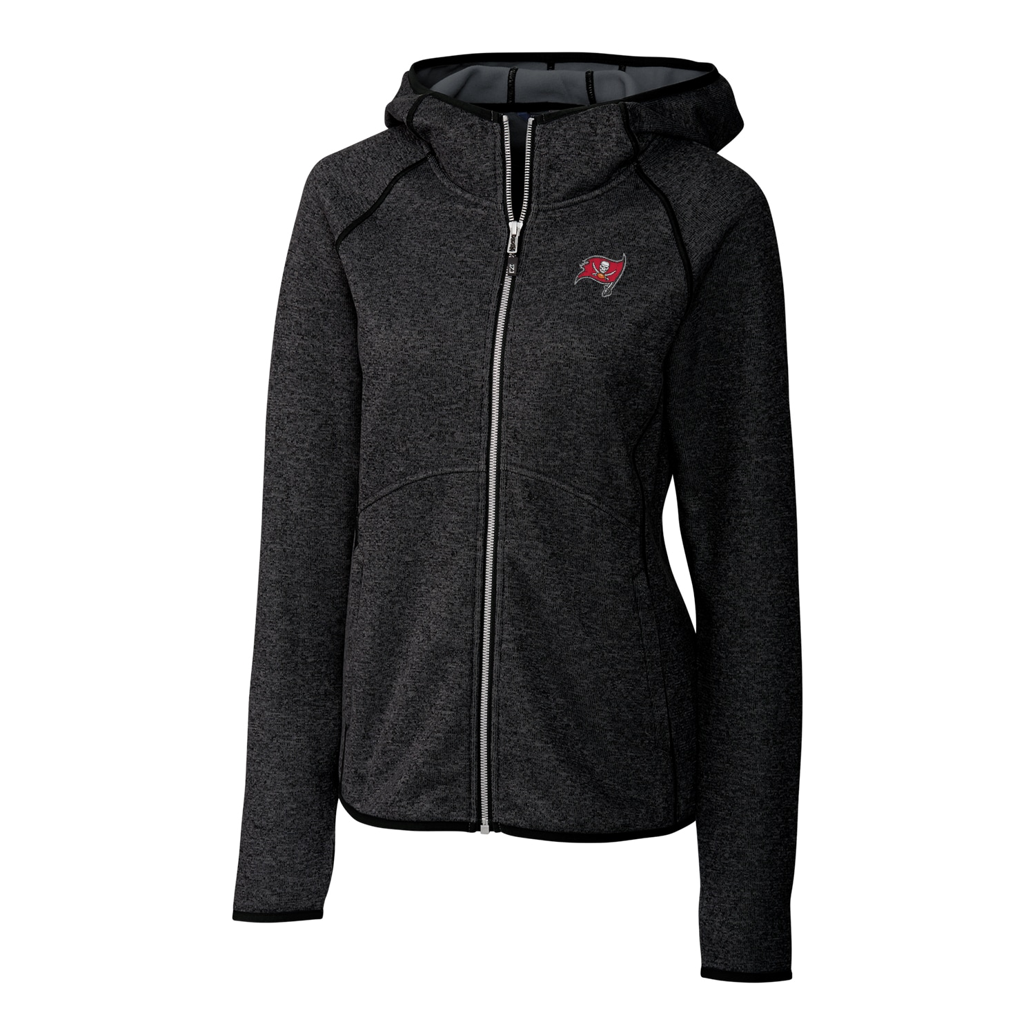 Tampa Bay Buccaneers Cutter & Buck Women's Mainsail Full-Zip Jacket - Black