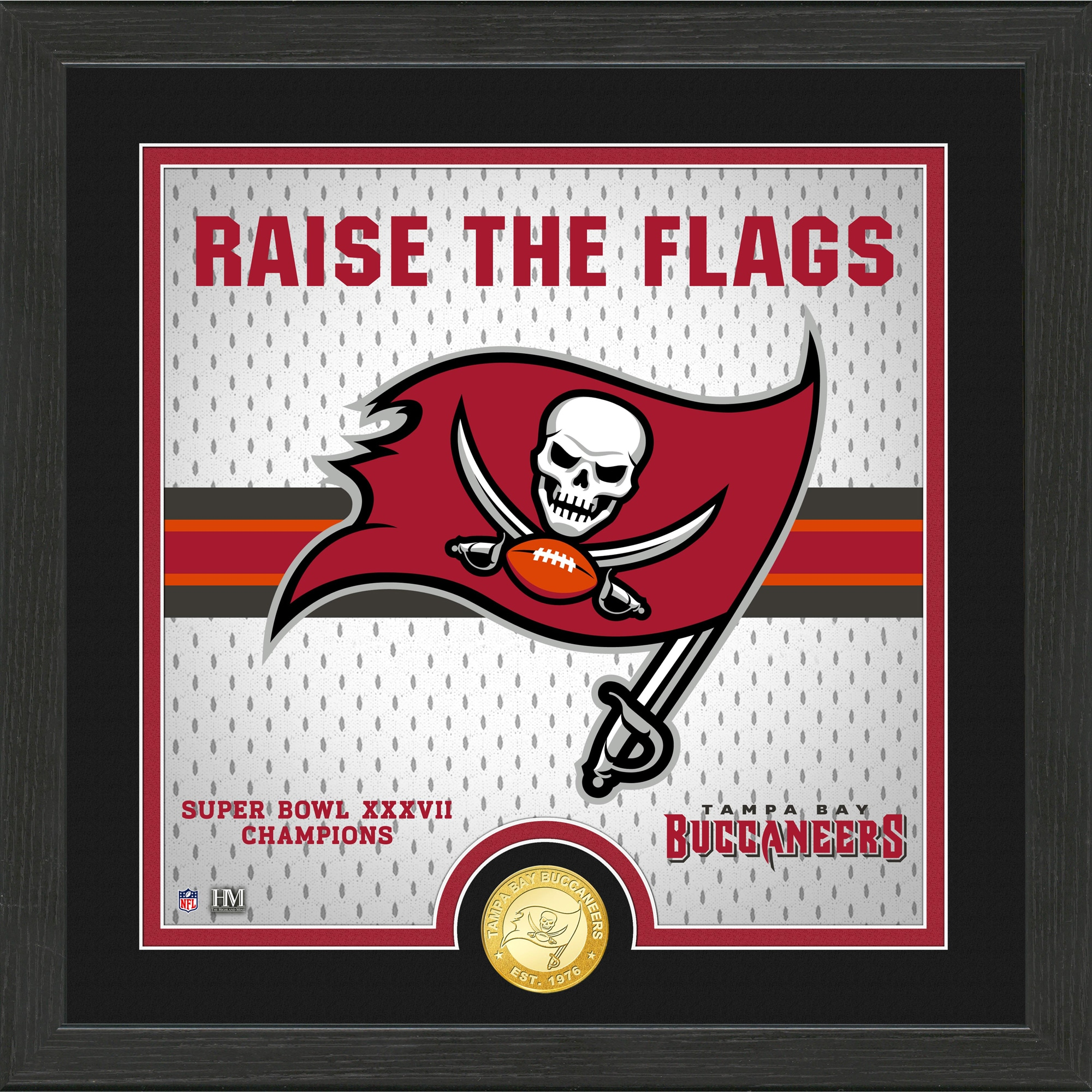 Tampa Bay Buccaneers Highland Mint 13'' x 13'' Battle Cry Bronze Coin Photo Mint