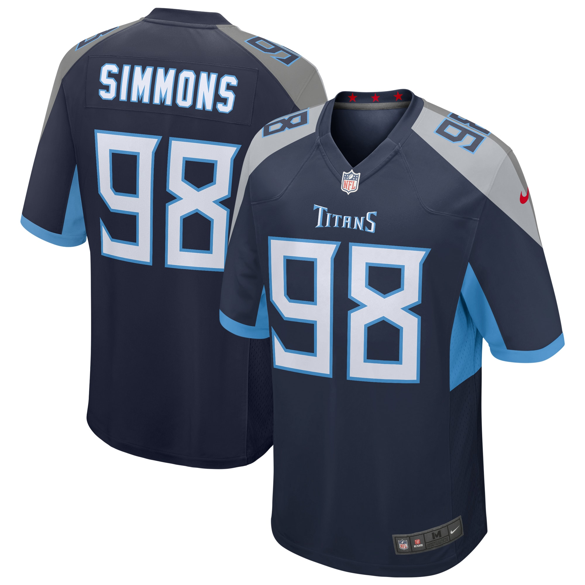 Jeffery Simmons Tennessee Titans Nike Game Jersey - Navy