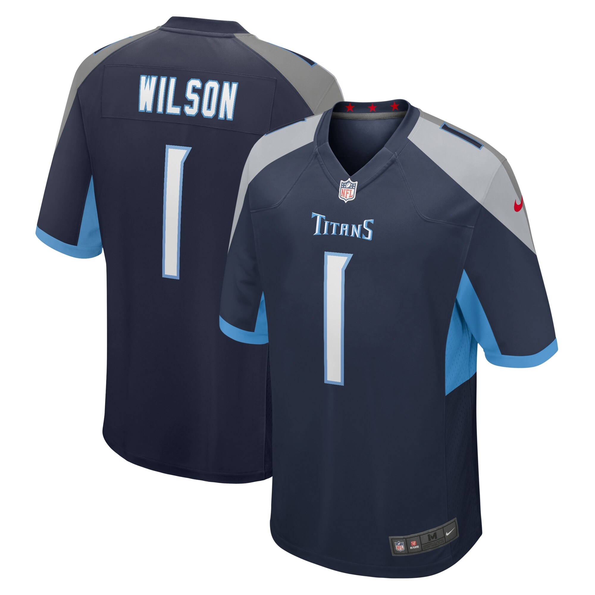 Isaiah Wilson Tennessee Titans Nike 2020 NFL Draft First Round Pick Game Jersey - Navy