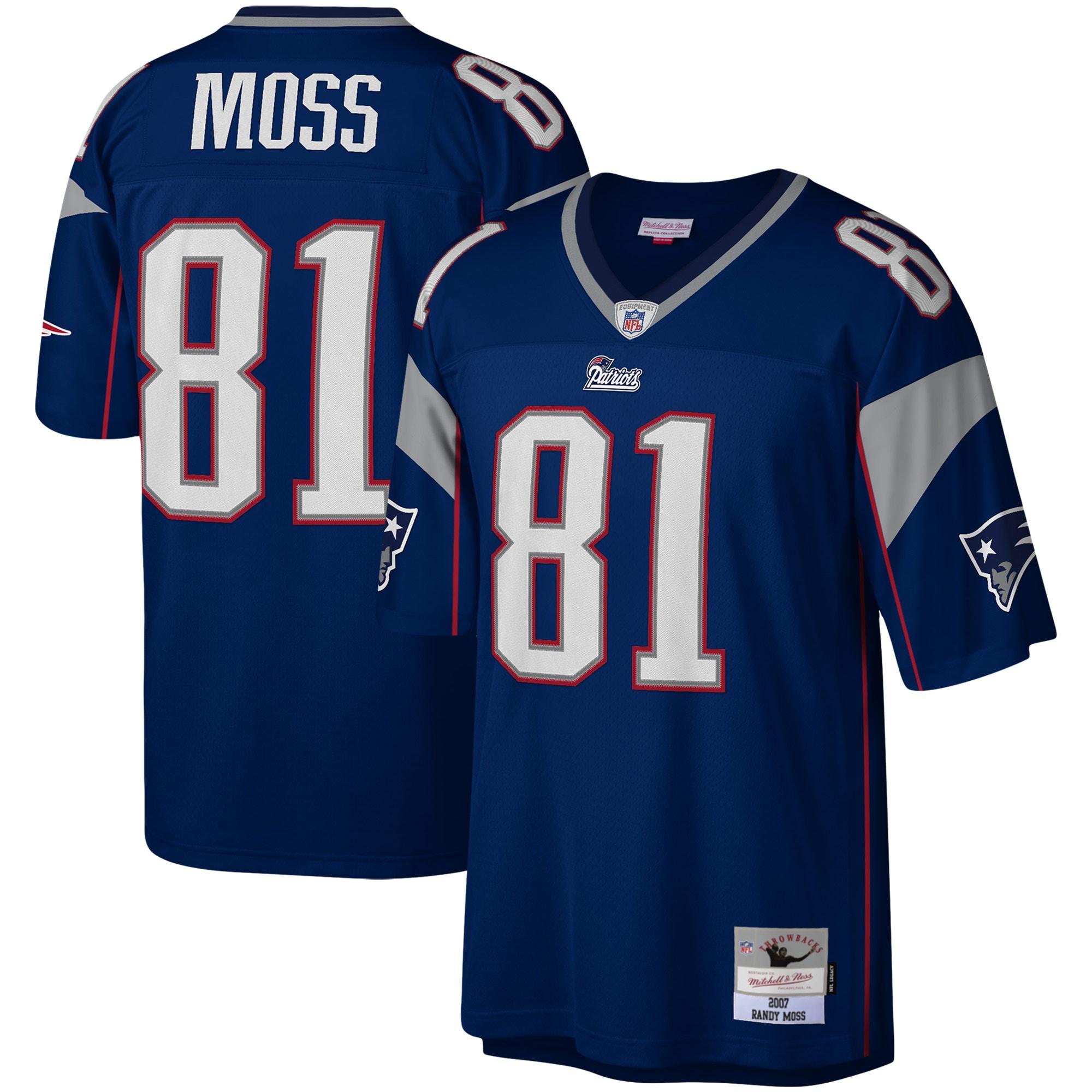 Randy Moss New England Patriots Mitchell & Ness Legacy Replica Jersey - Navy