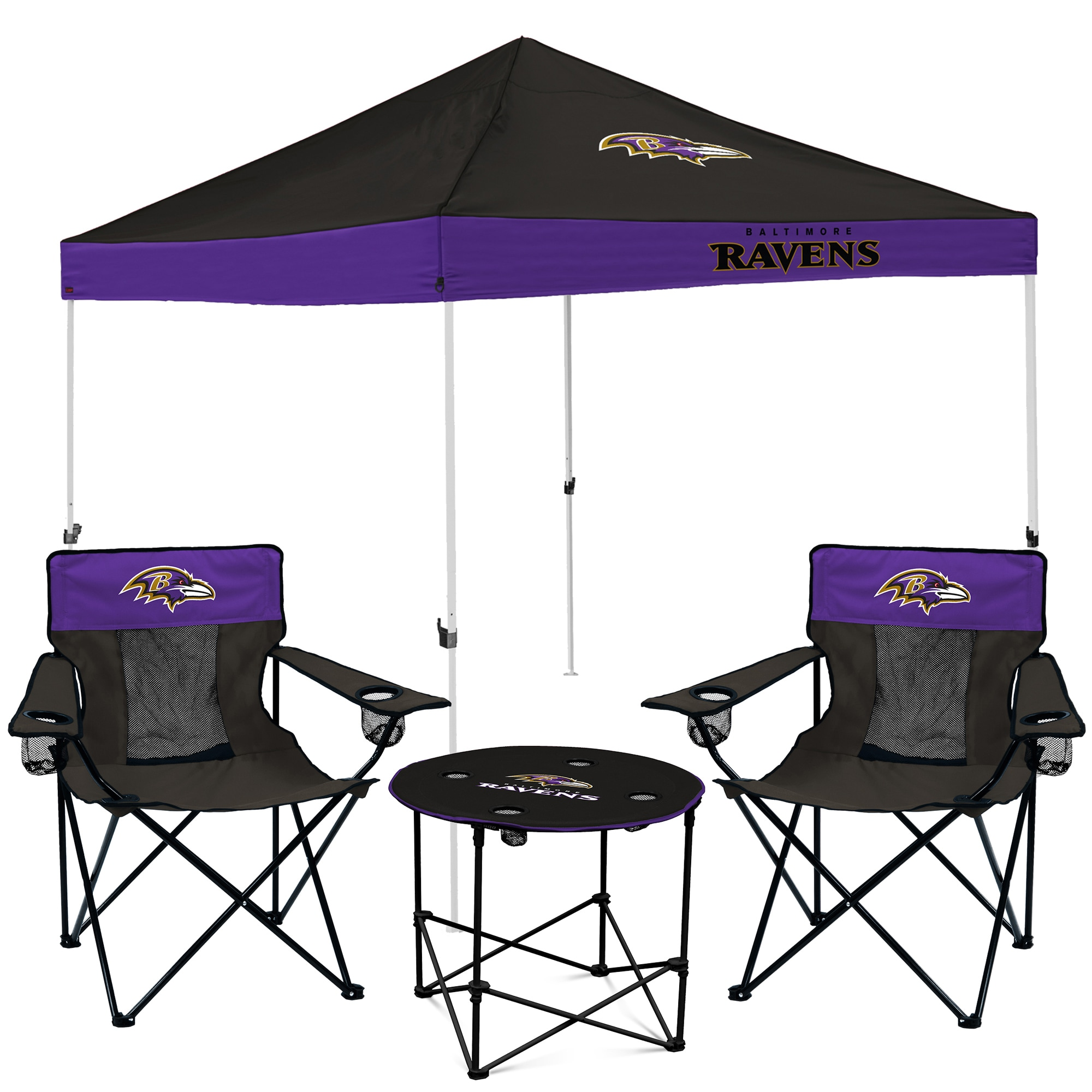 Baltimore Ravens Tailgate Canopy Tent, Table, & Chairs Set