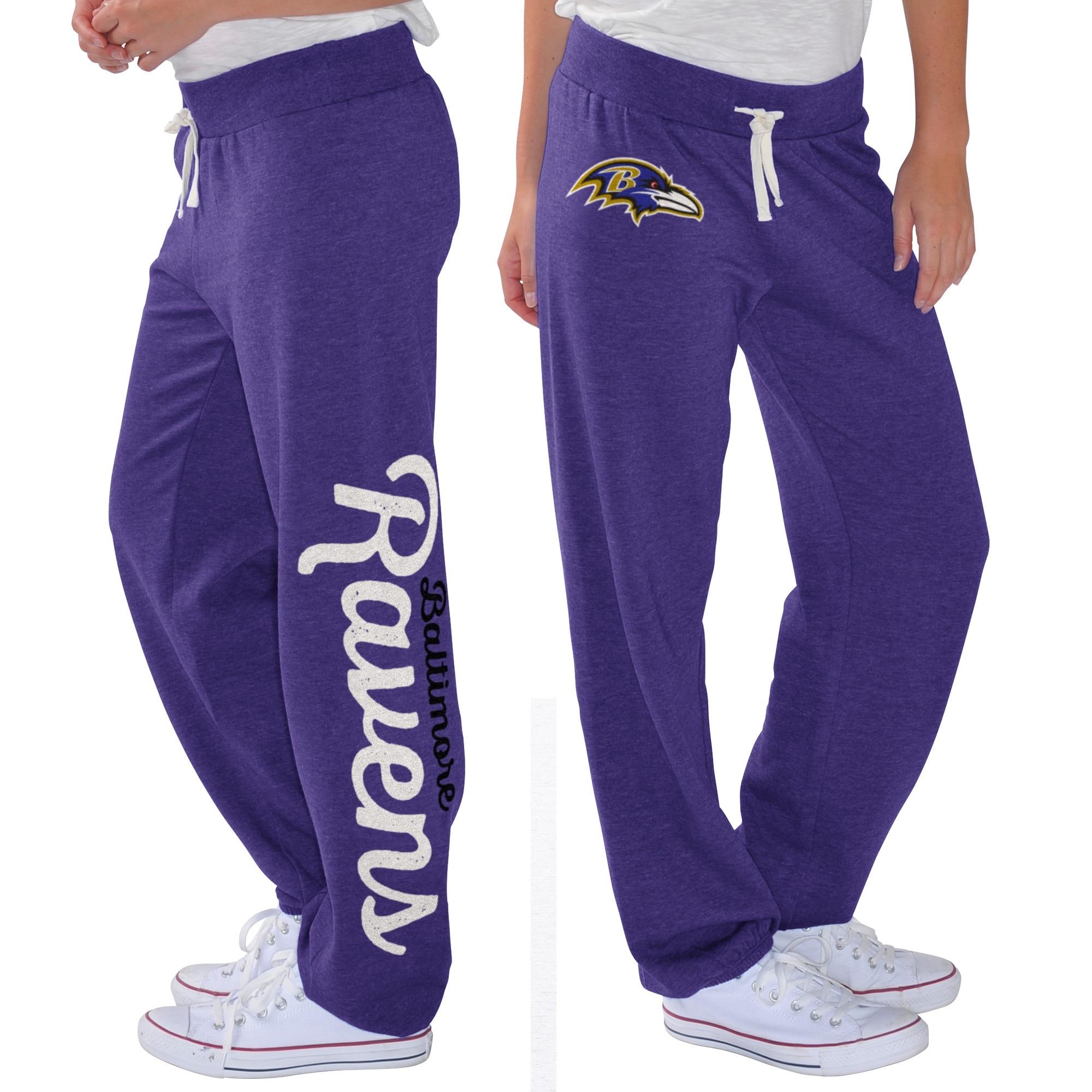 Baltimore Ravens G-III 4Her by Carl Banks Women's Scrimmage Fleece Pants - Purple