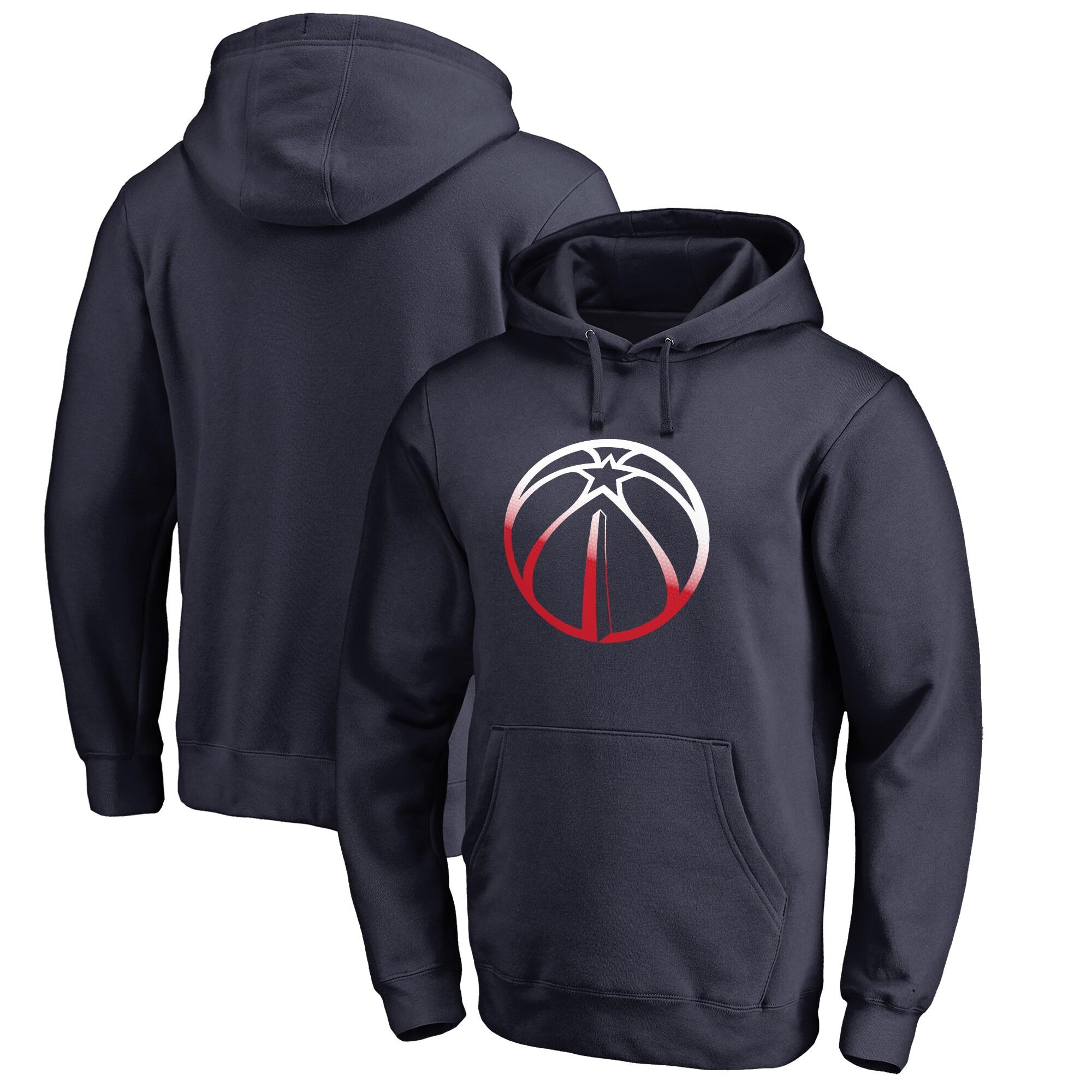 Washington Wizards Fanatics Branded Big & Tall Gradient Logo Pullover Hoodie - Navy