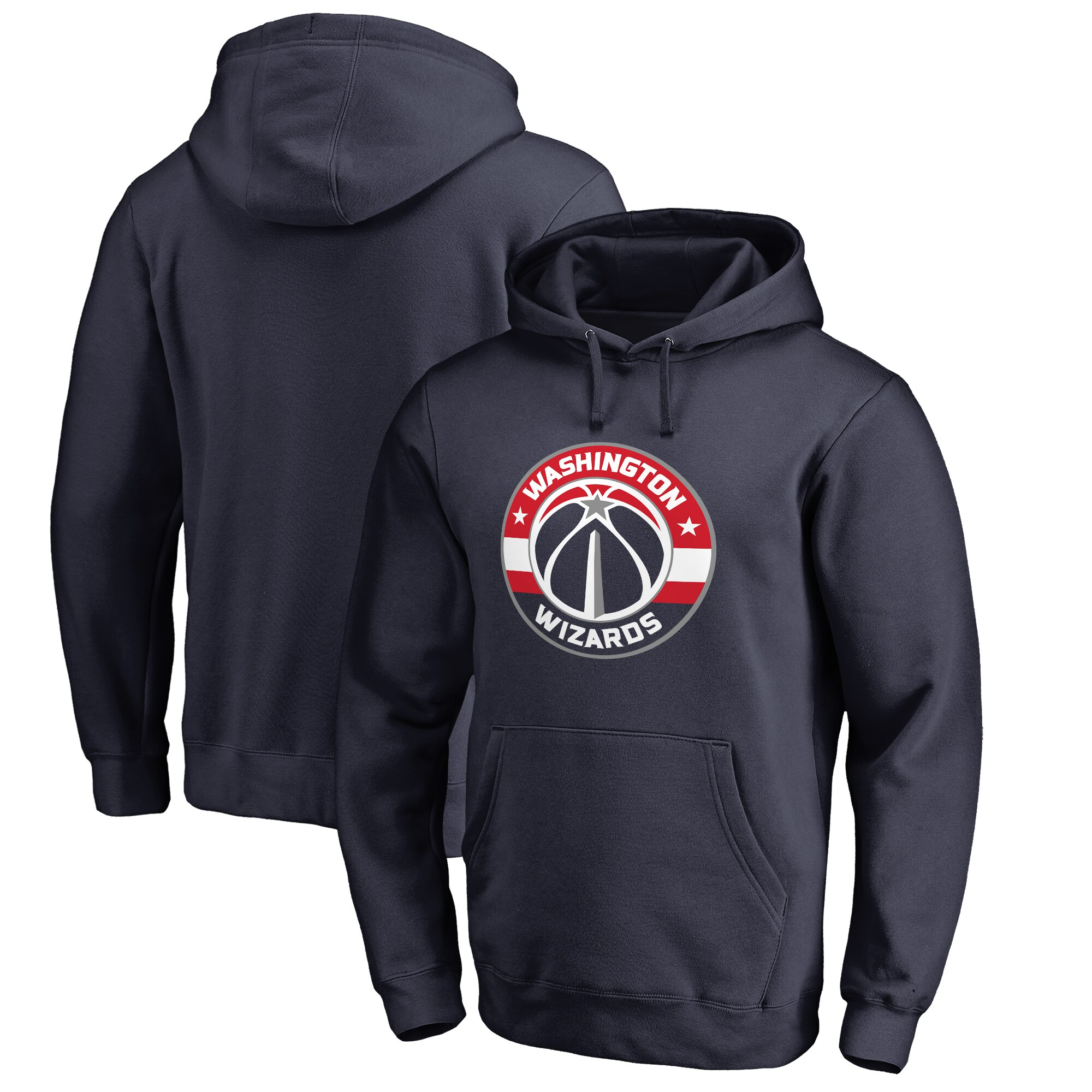 Washington Wizards Fanatics Branded Big & Tall Team Primary Logo Pullover Hoodie - Navy