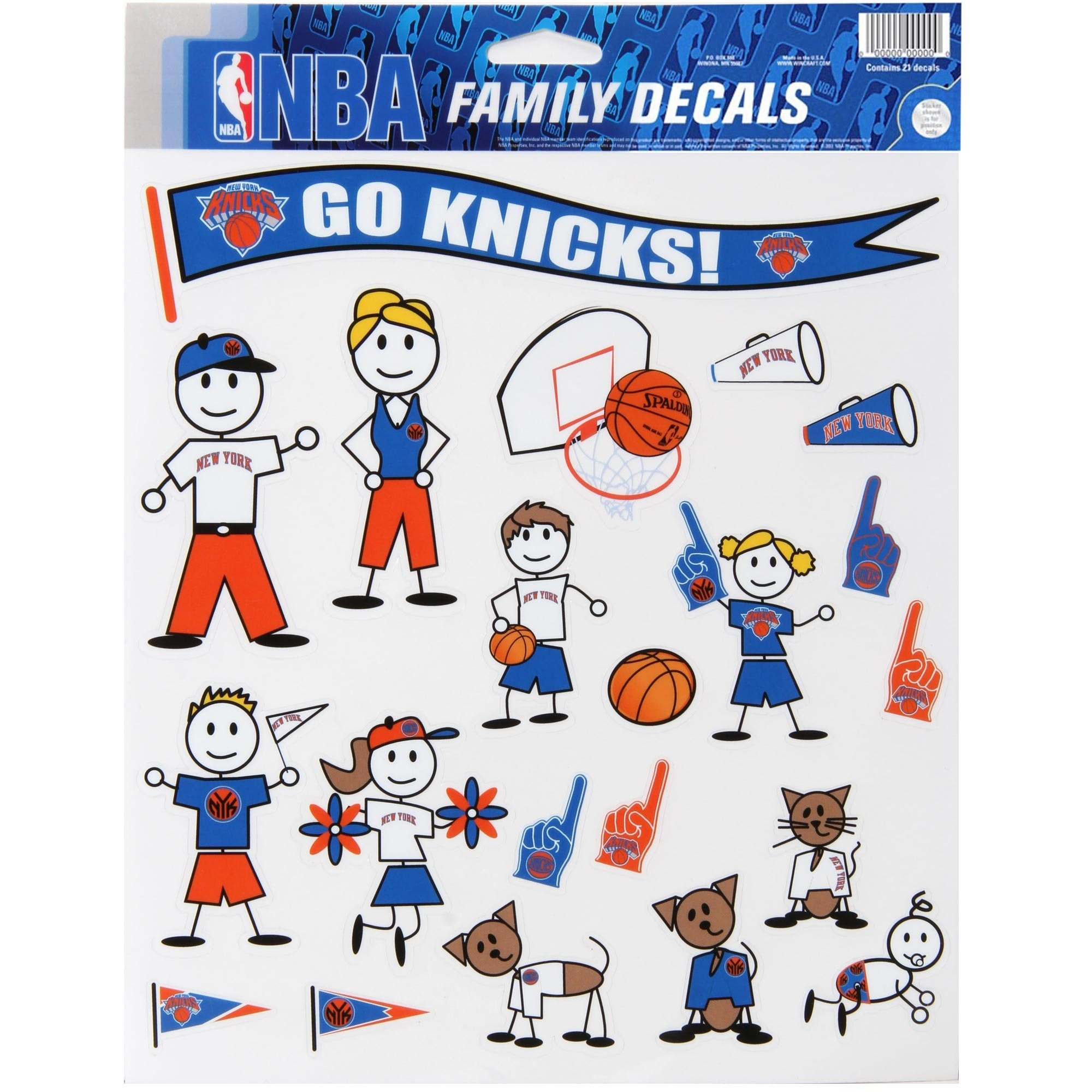 New York Knicks WinCraft Family Decal Sheet