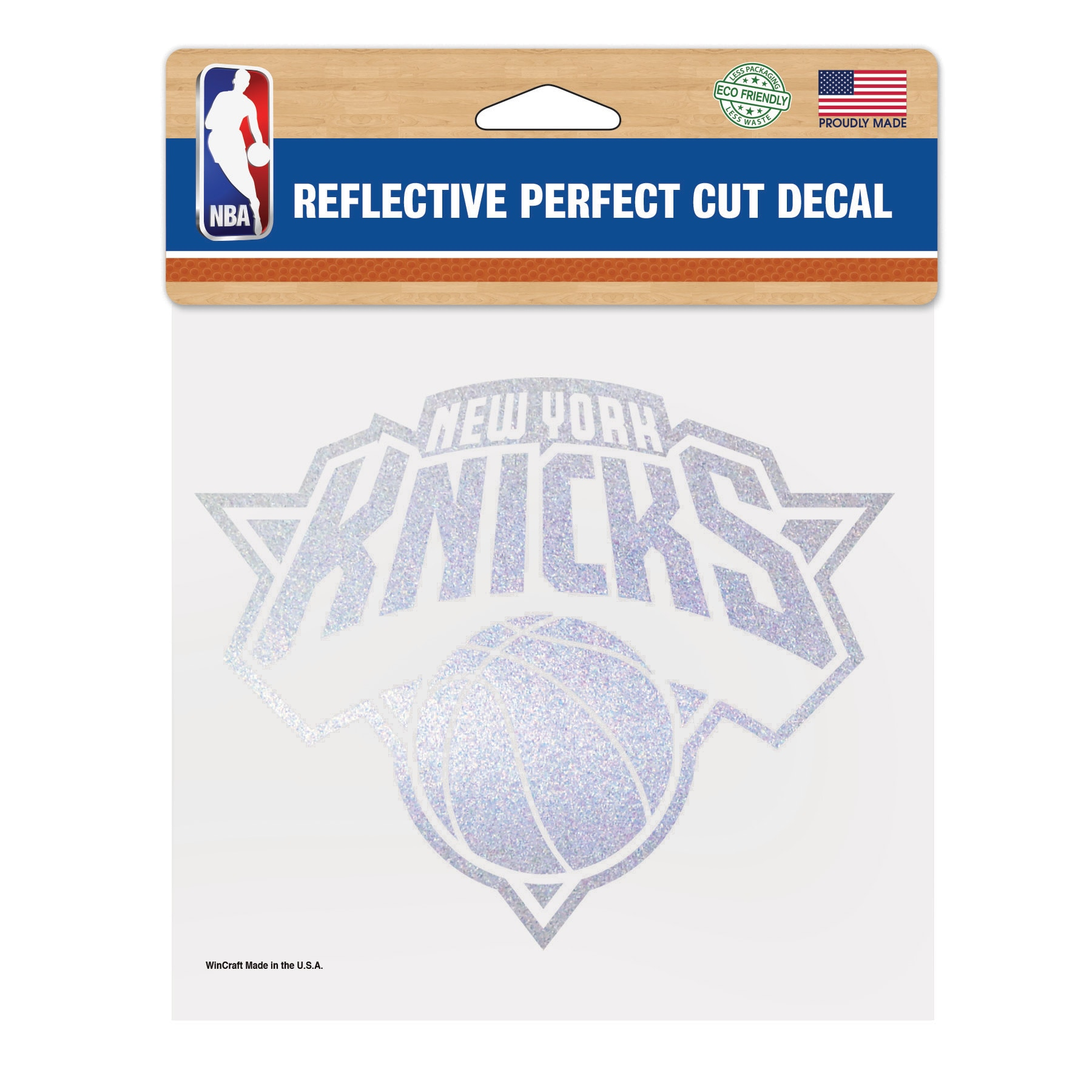 "New York Knicks WinCraft 6"" x 6"" Reflective Perfect Cut Decal"