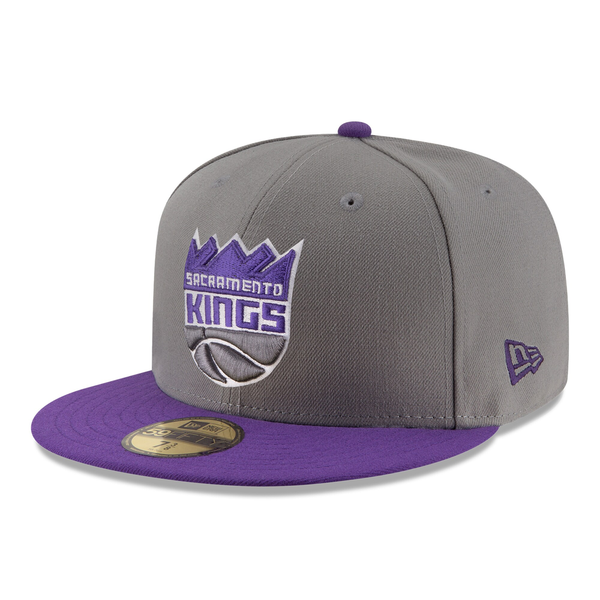Sacramento Kings New Era New Logo 59FIFTY Fitted Hat - Gray